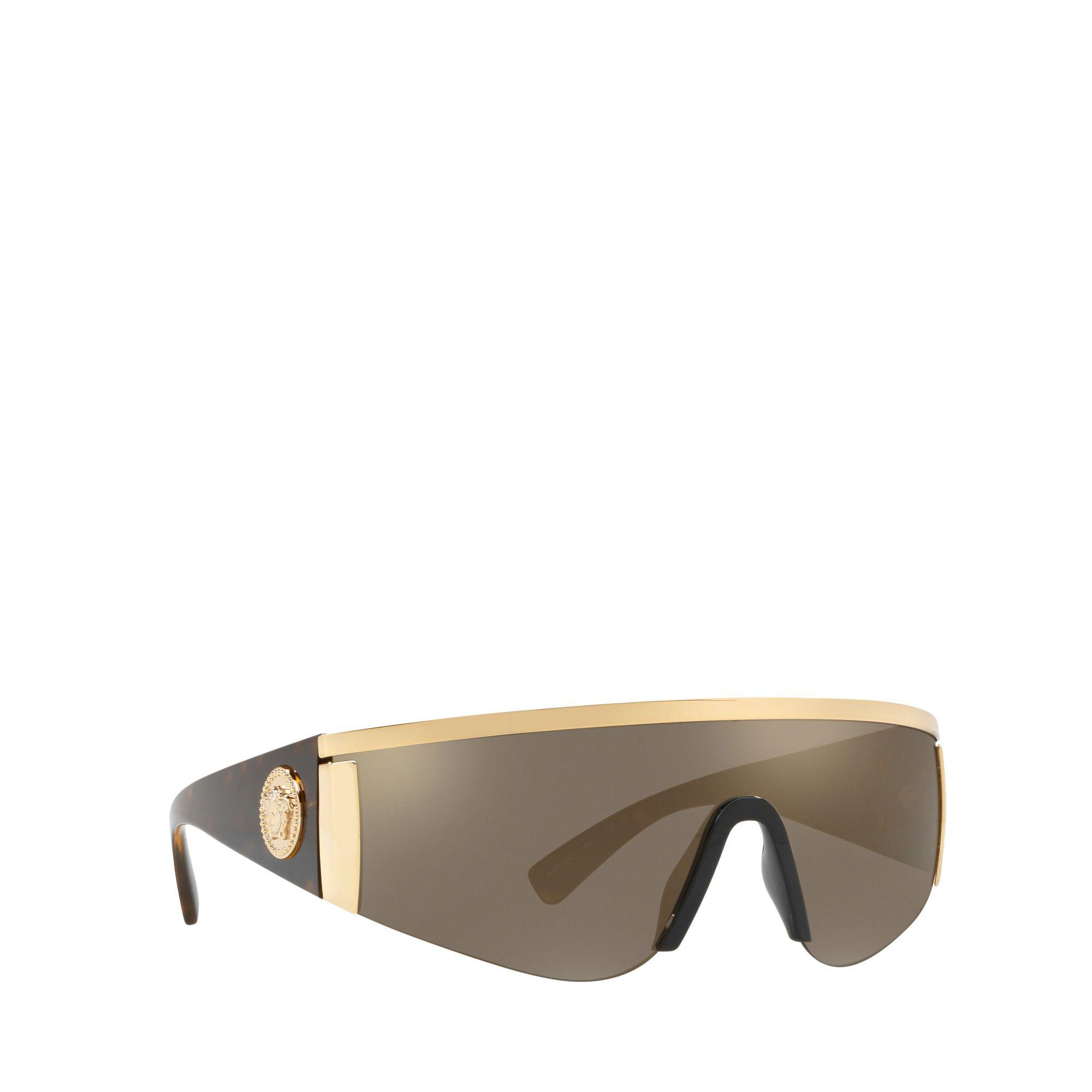 11c0d3cb2f9 Versace Gold 0ve2197 Irregular Sunglasses in Metallic for Men - Lyst