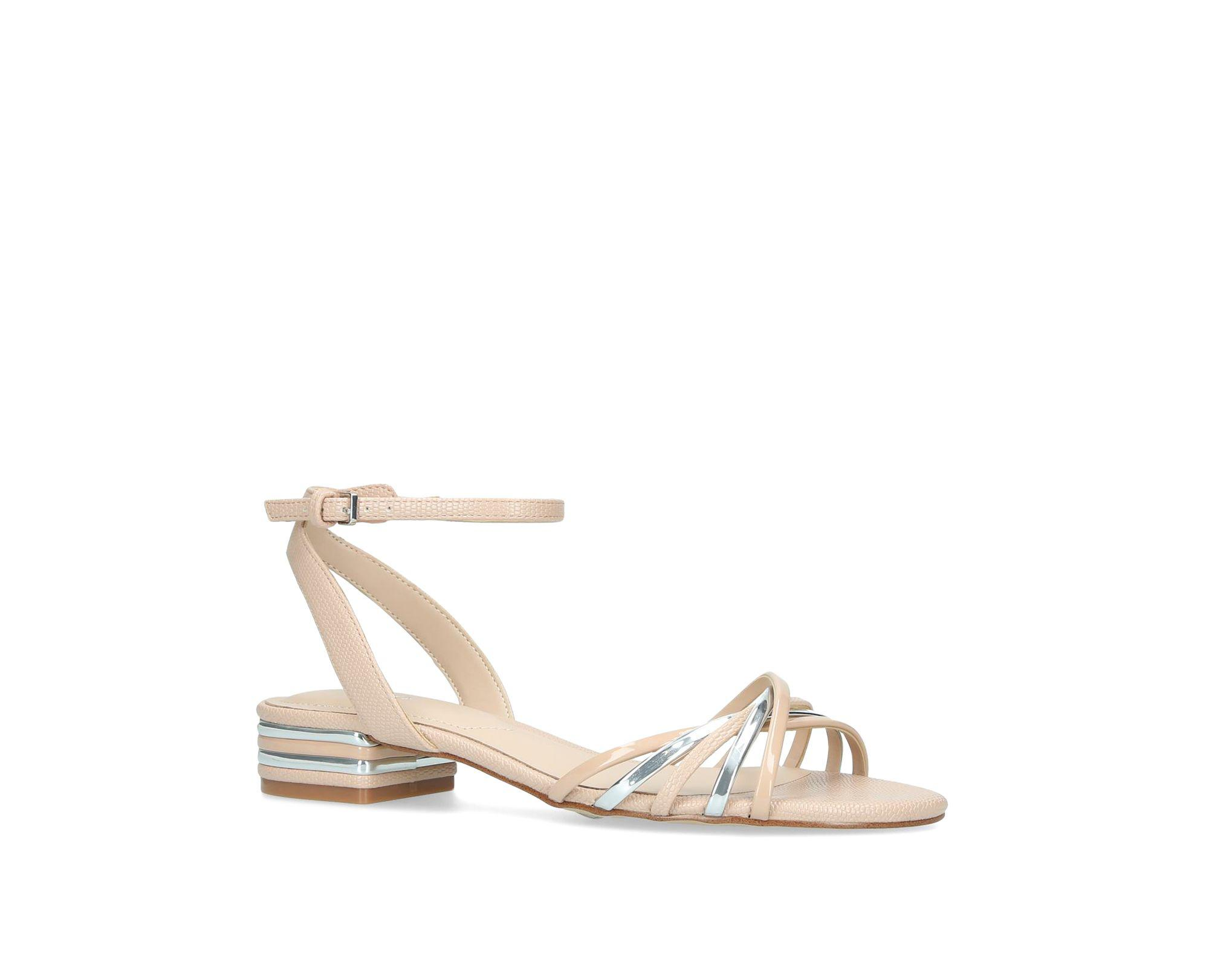922088c76b4 ALDO Metallic  legaecia  Open Toe Sandals in Pink - Lyst