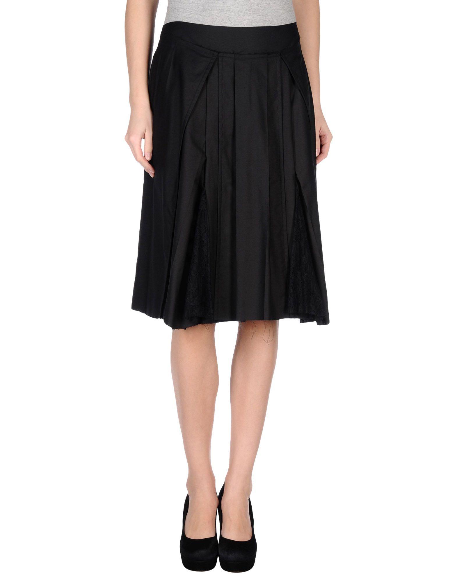 Philosophy di alberta ferretti Knee Length Skirt in Black | Lyst