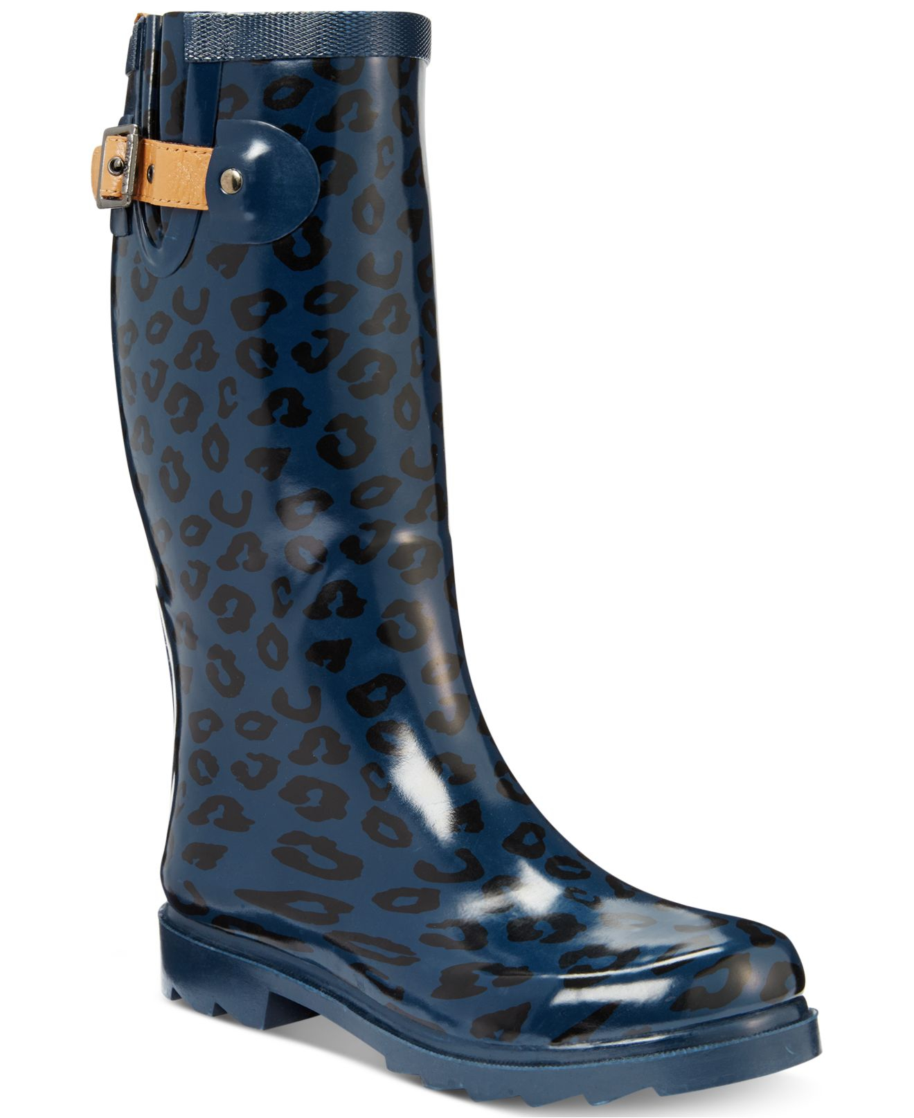 33f8bf39cf3b Chooka Top Solid Leopard Rain Boots in Blue - Lyst