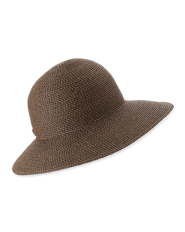 Lyst Eric Javits Squishee Iv Woven Round Dome Sun Hat In Brown e887bda9b7e9