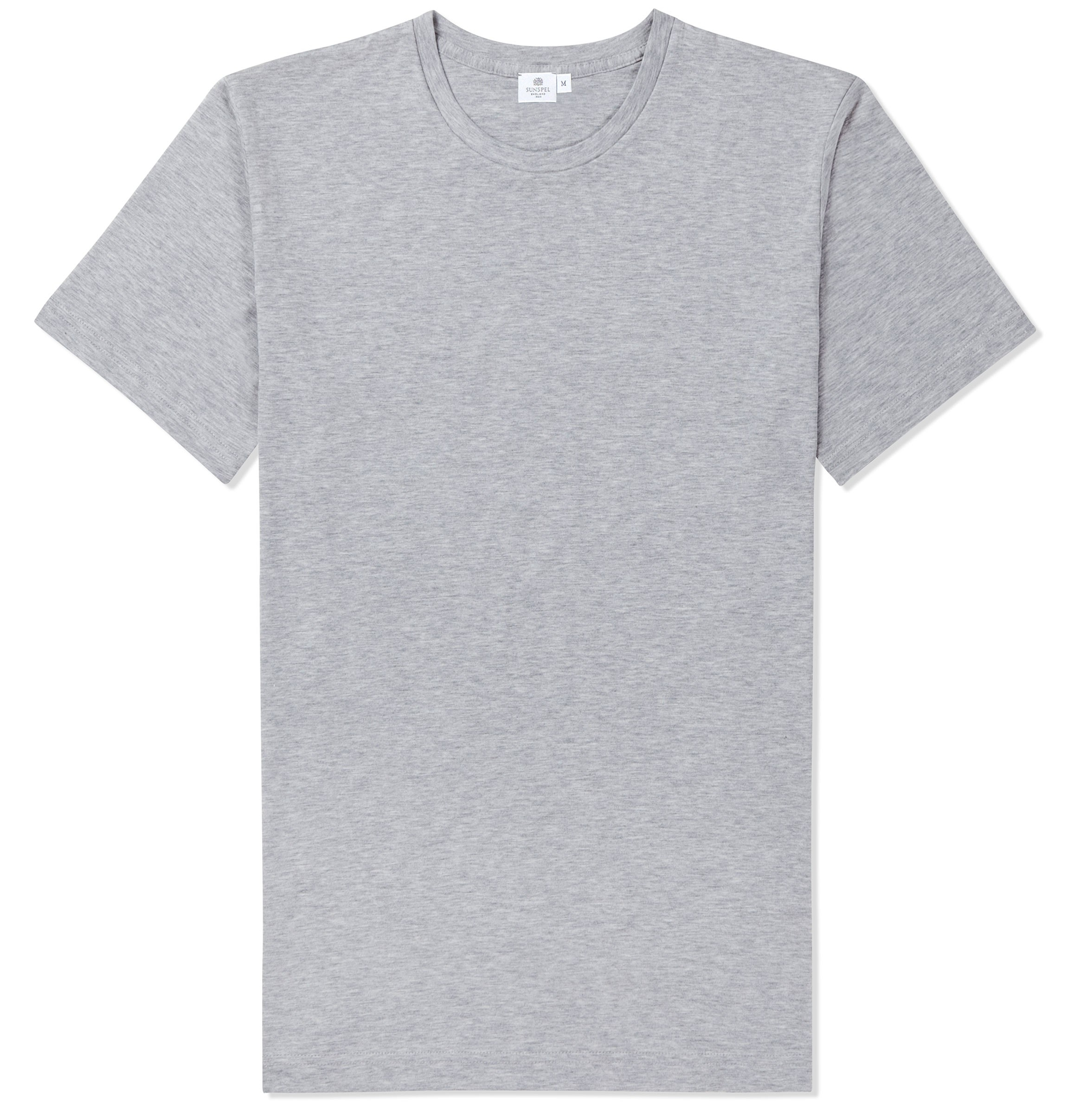 5ffa39744f Sunspel Riviera Crew Neck T-Shirt in Gray for Men - Lyst