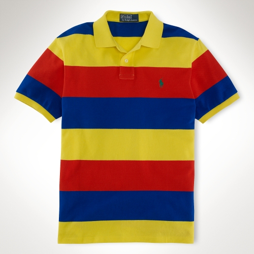 69c718b6e1 low cost home clothing polo shirts d9ca0 03f74; closeout lyst polo ralph  lauren custom blockstriped mesh polo in red for men 734e1 96330
