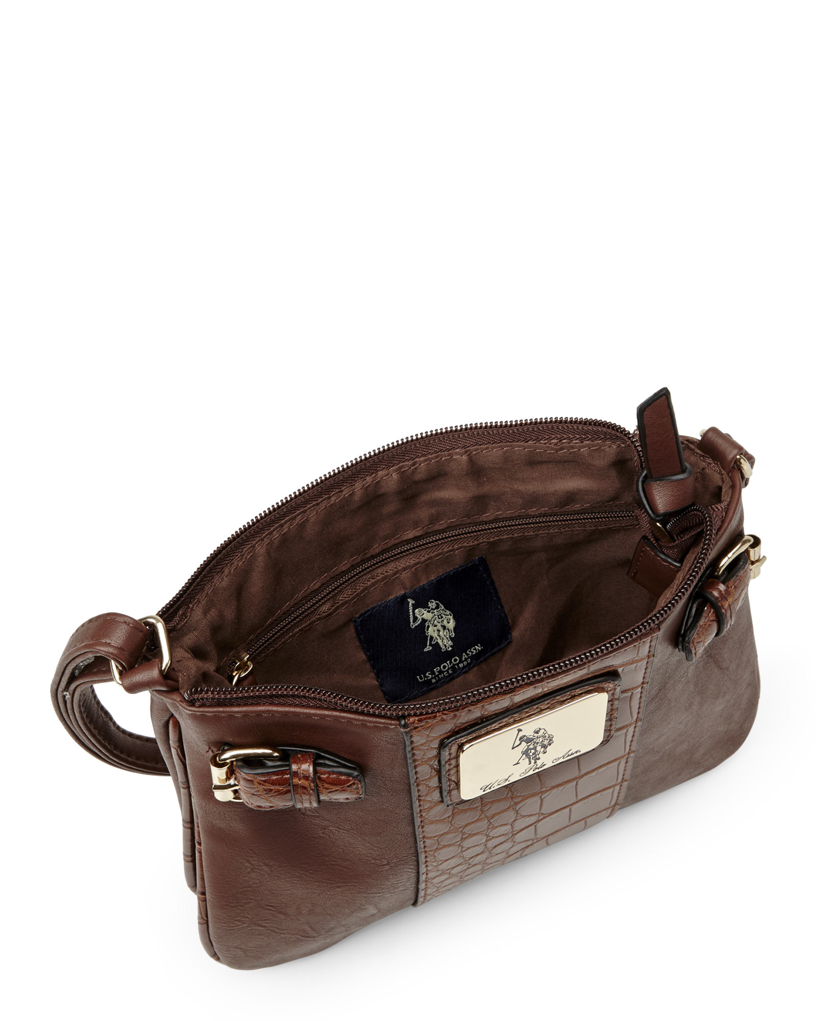 9666e0282801 Lyst - U.S. POLO ASSN. Chocolate Dillon Classic Saddle Bag in Brown
