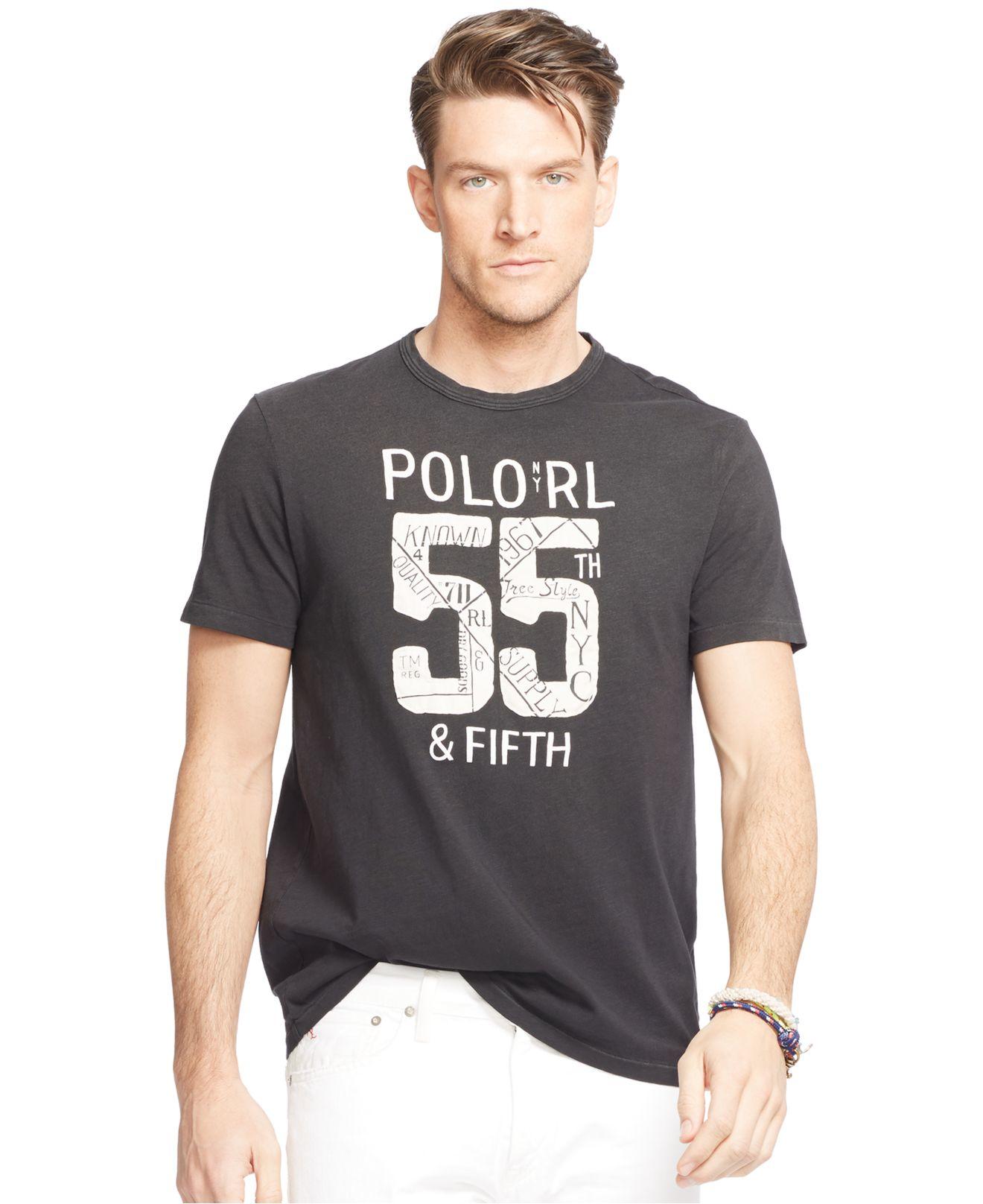 Lyst polo ralph lauren graphic jersey crew neck t shirt for Ralph lauren polo jersey shirt