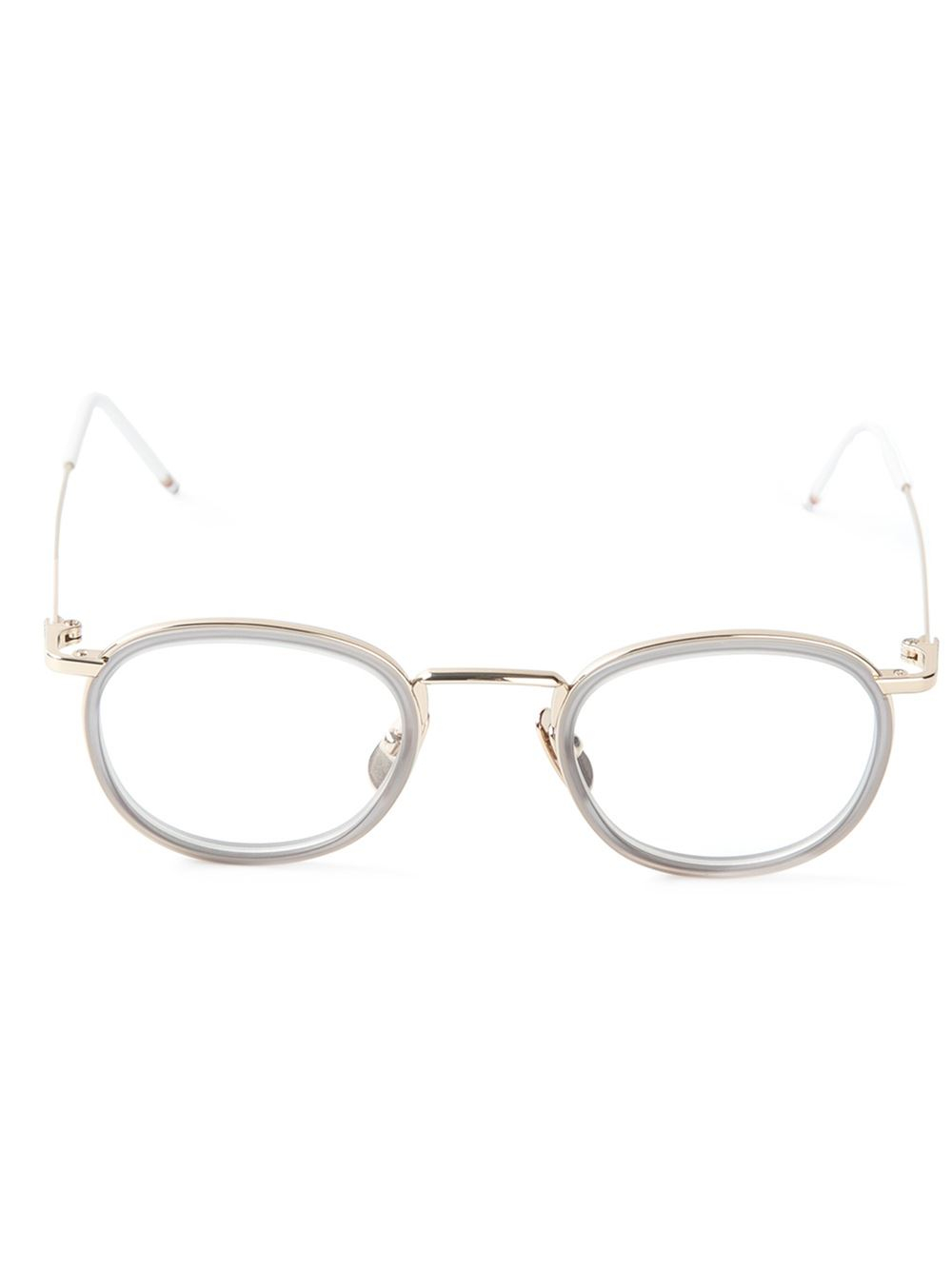 Lyst - Thom Browne Clip On Round Frame Glasses in Gray for Men