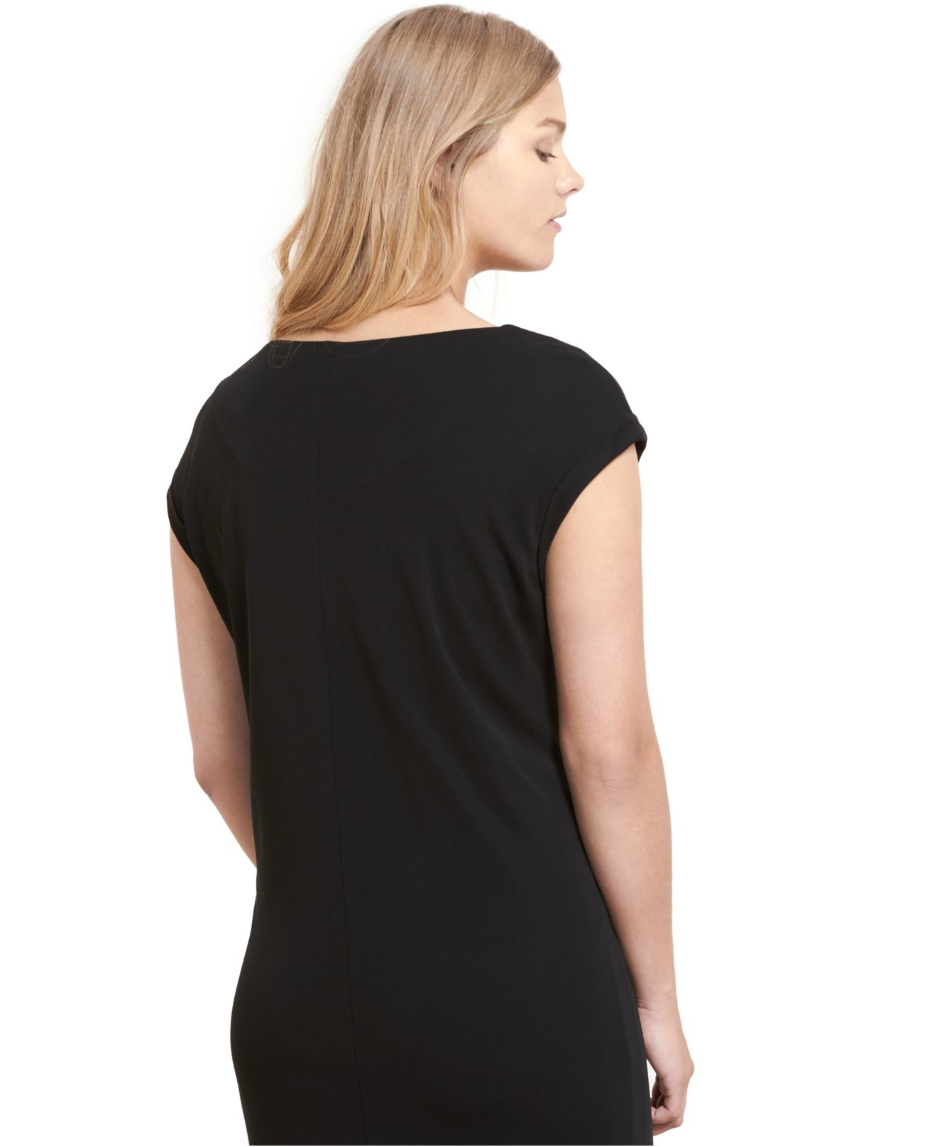 Lyst Violeta By Mango Plus Size Zip Front Sheath Dress In Black