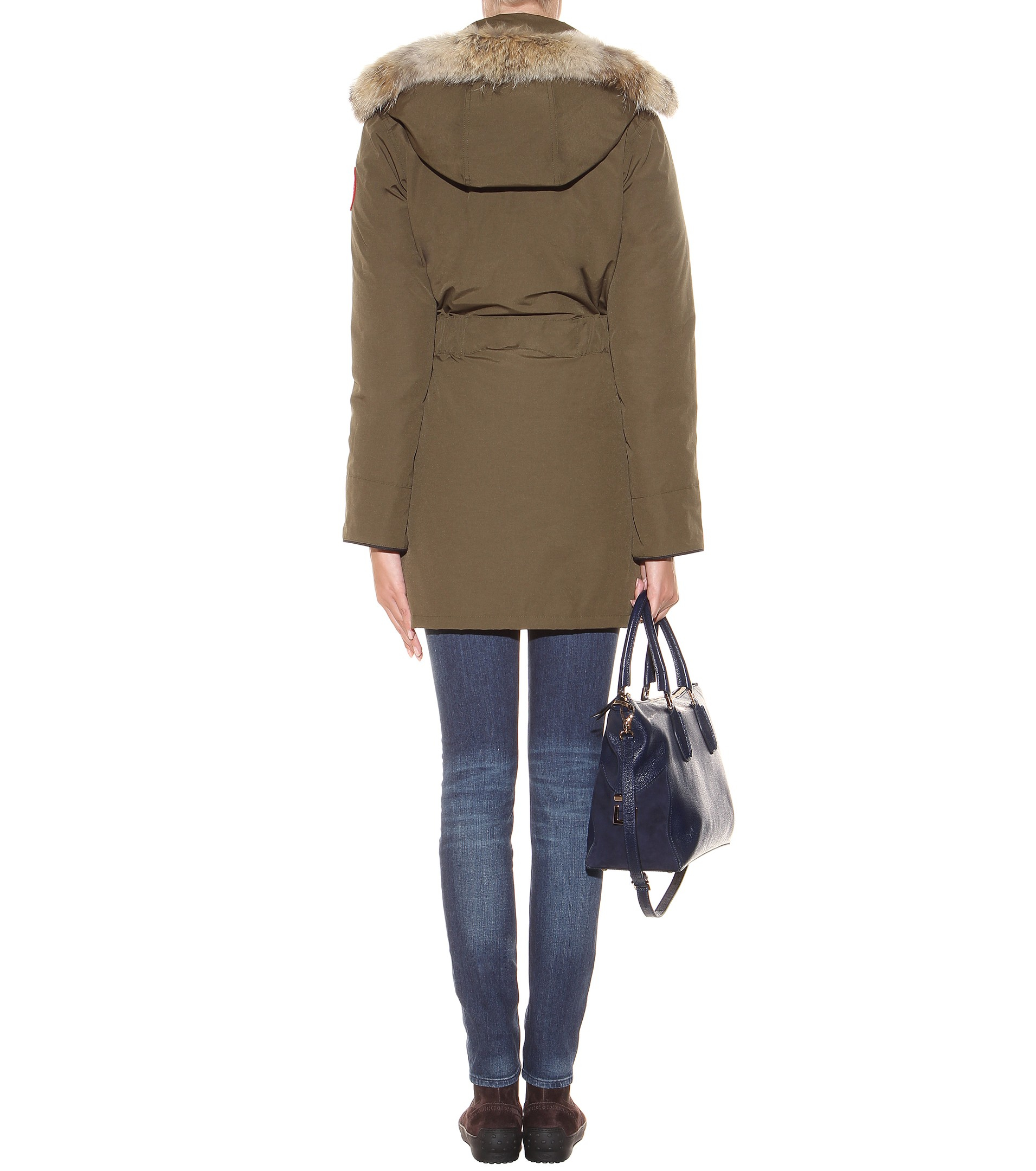 Canada Goose down online price - Canada goose Trillium Down Jacket With Fur-trimmed Hood in Green ...
