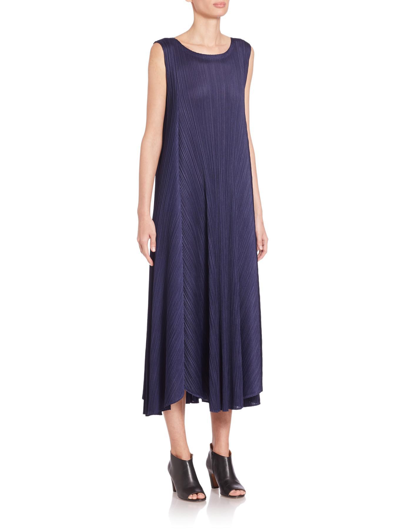 sleeveless pleated dress - Blue Issey Miyake gAiqN