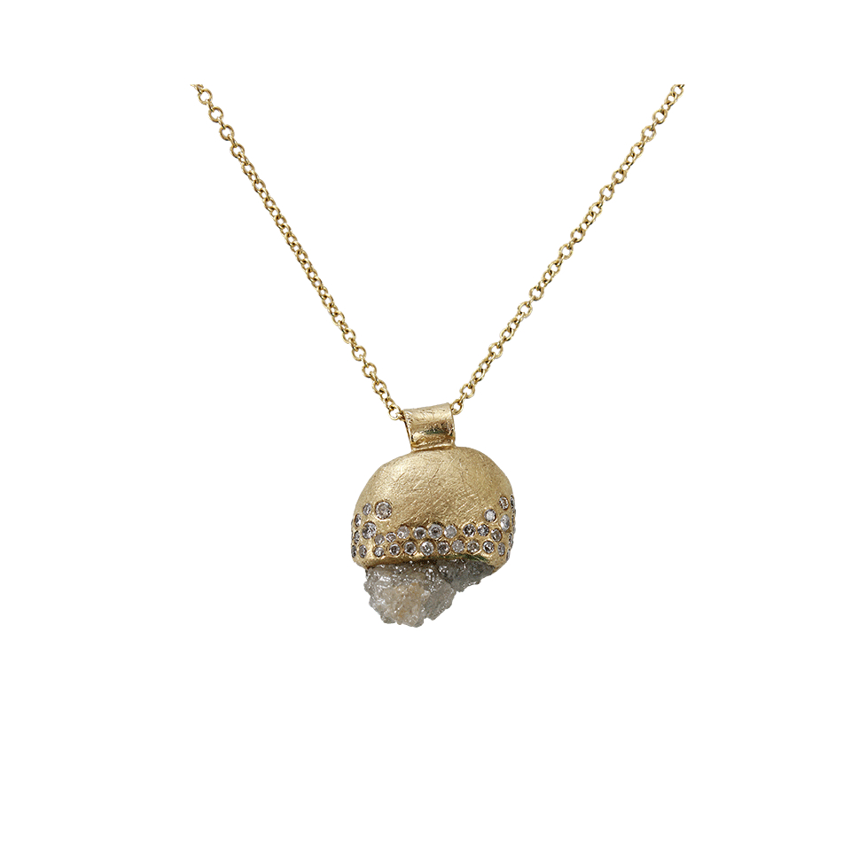Lyst todd reed raw diamond pendant necklace in metallic for Todd reed