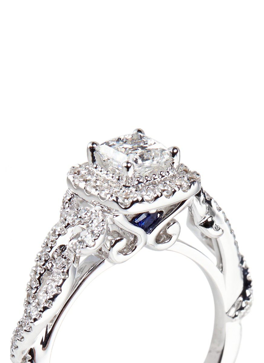 Vera Wang Love East Meets West Diamond Engagement Ring In White Lyst