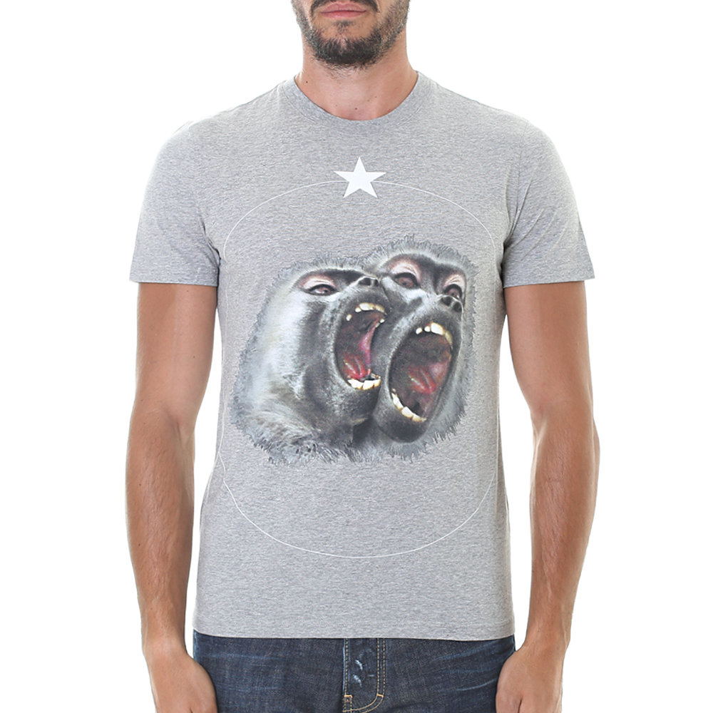 Lyst Givenchy Cotton Printed T Shirt In Gray For Men