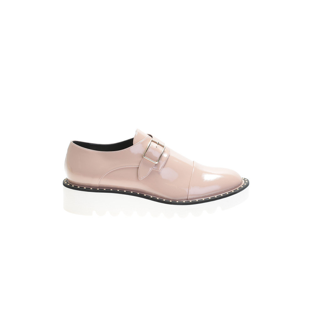 stella mccartney pink odette eco leather brogue shoes in