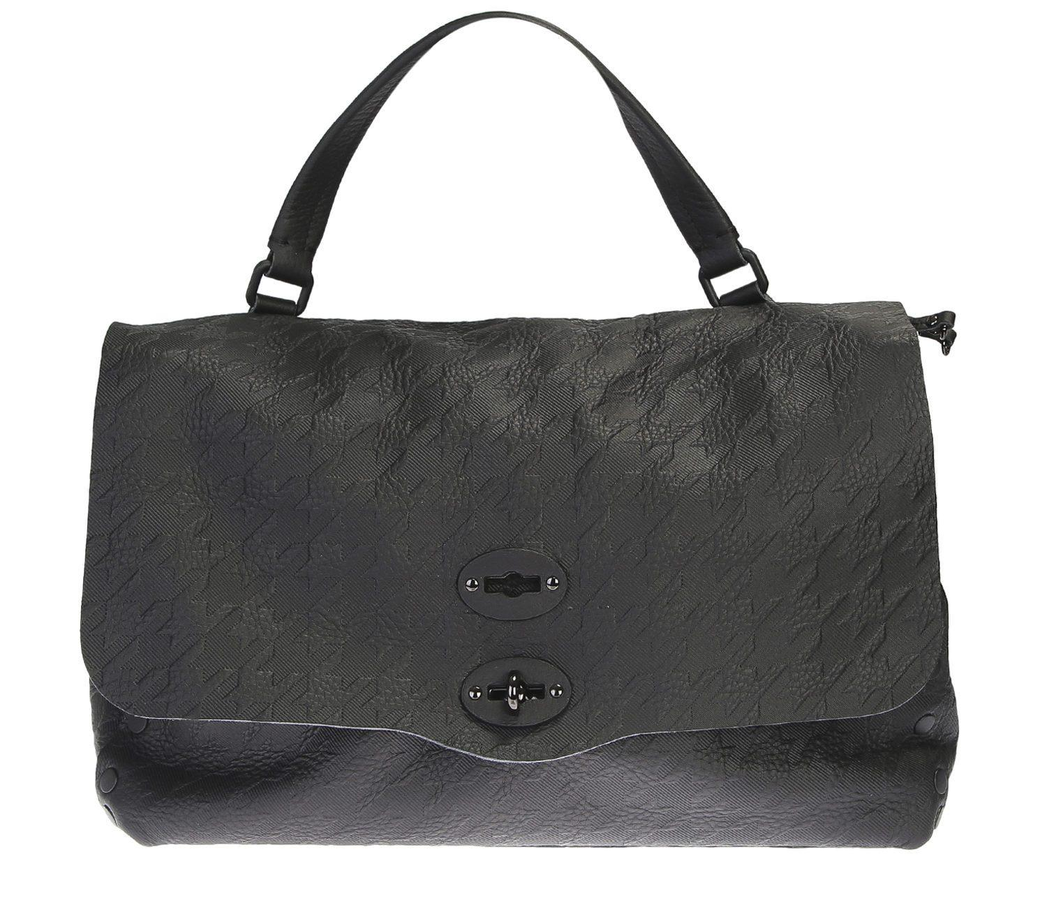 284e8b4e2c8 Lyst - Zanellato Postina M Pura Tabarin Coated Leather Bag in Black