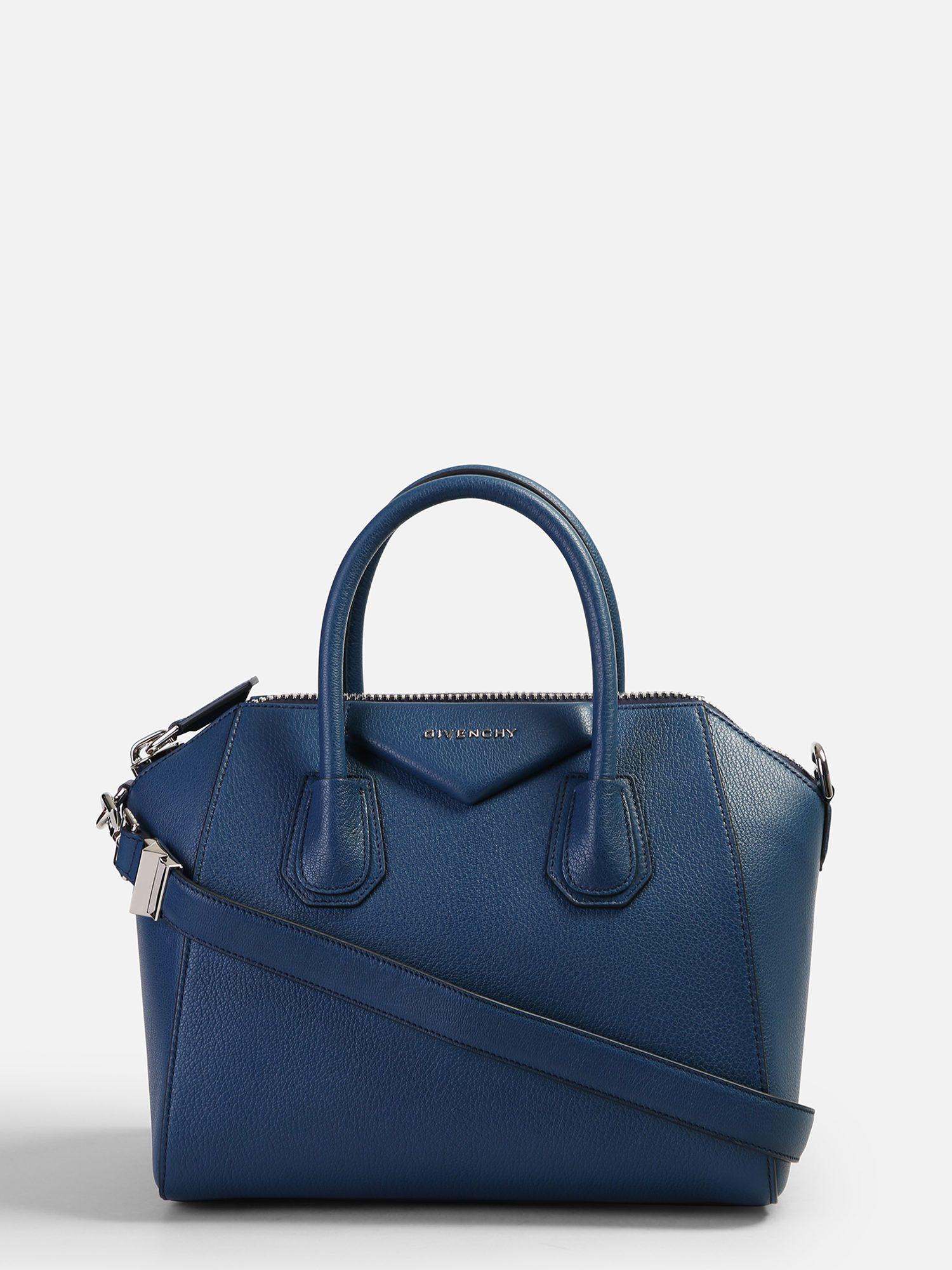 ccceabe437ee Lyst - Givenchy Small Antigona Leather Bag in Blue