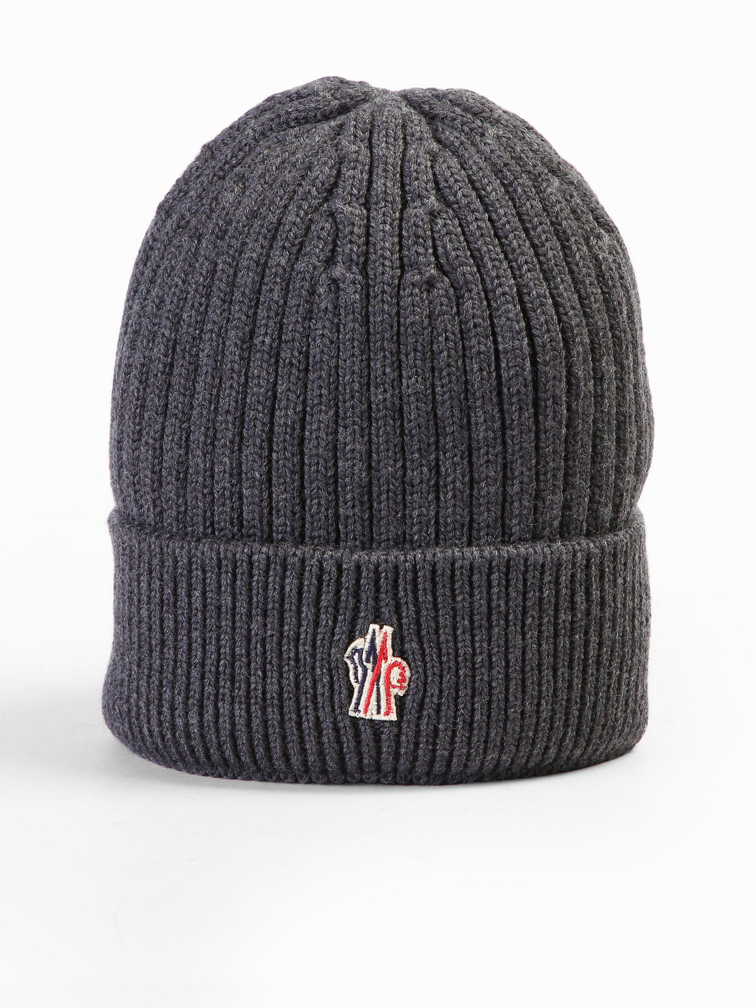 647f1b62a3d Lyst - Moncler Grenoble Virgin Wool Hat With Logo Detail for Men