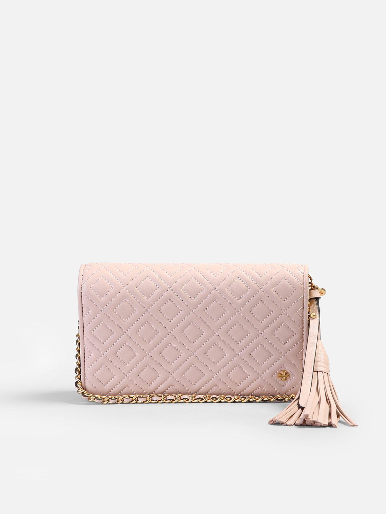 d4c9d4ff3b3 Tory Burch Fleming Leather Shoulder Bag in Pink - Lyst