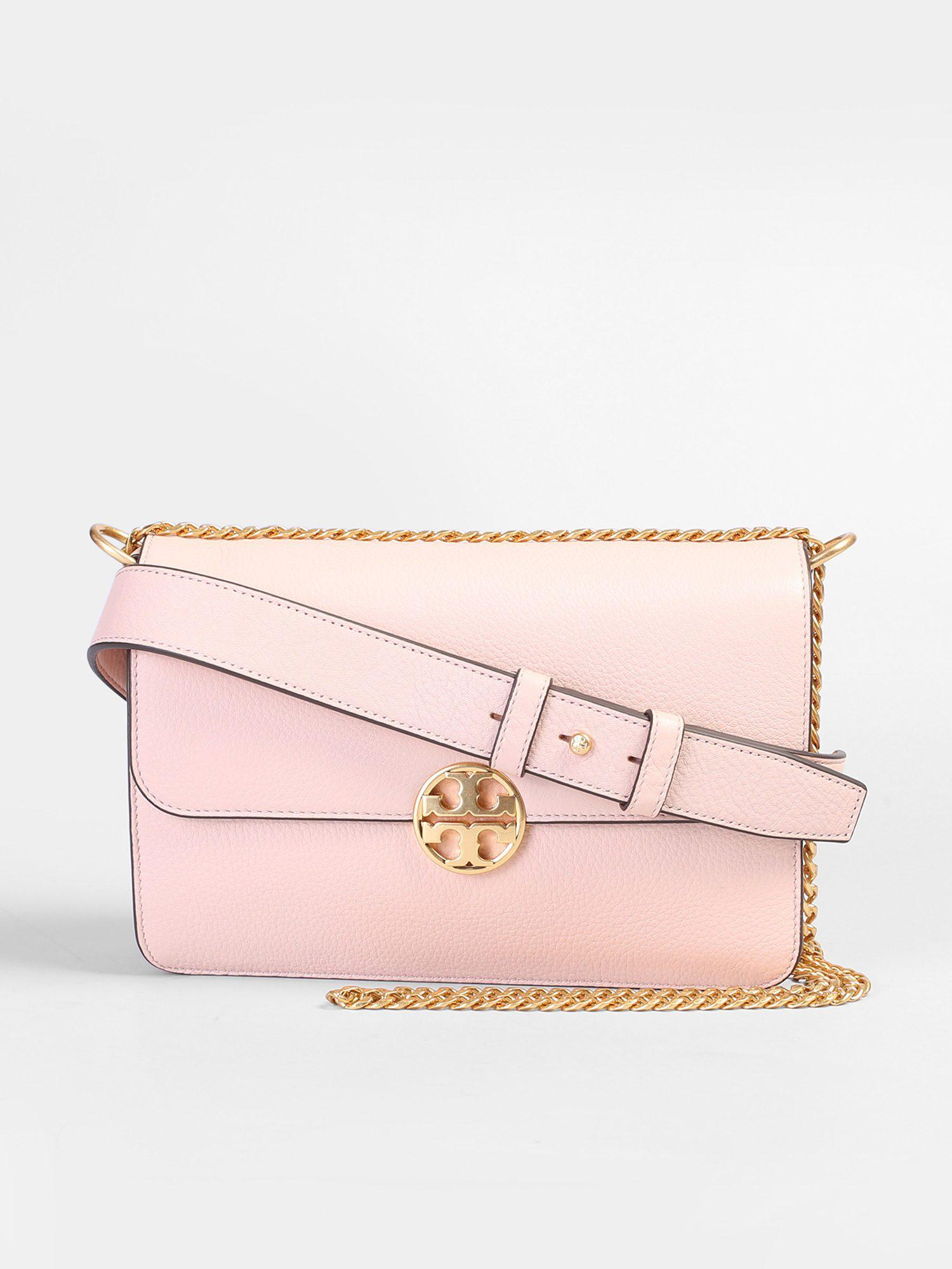 94c621403b8a Lyst - Tory Burch Chelsea Leather Shoulder Bag in Pink