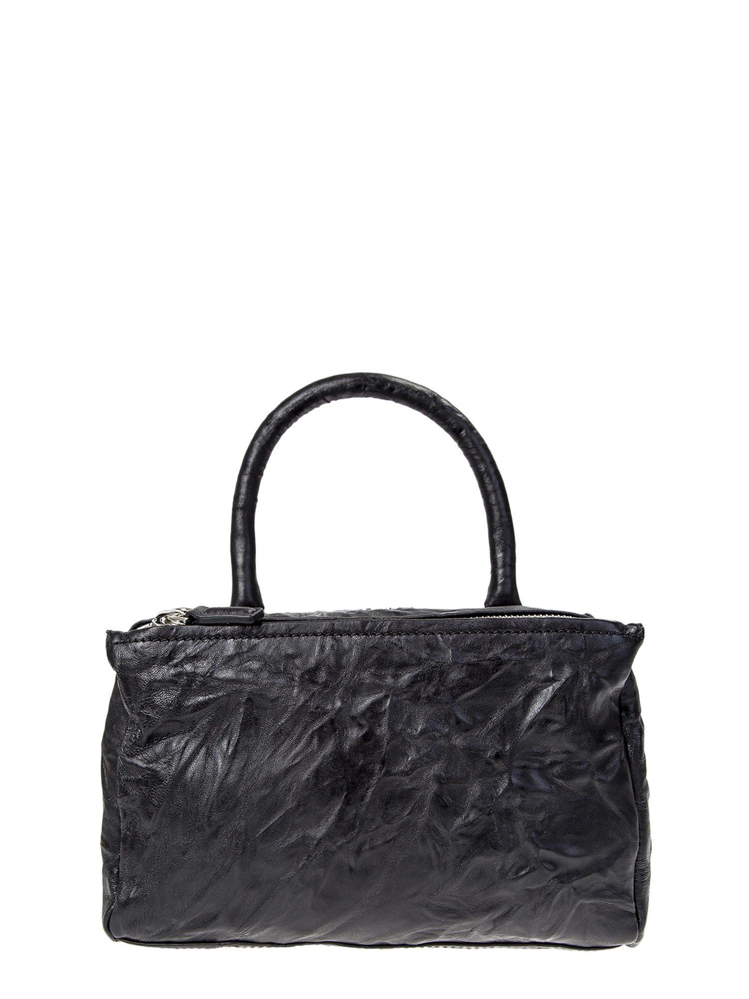 ea2915b96d03 Givenchy Washed Leather Pandora Small Bag in Black - Lyst