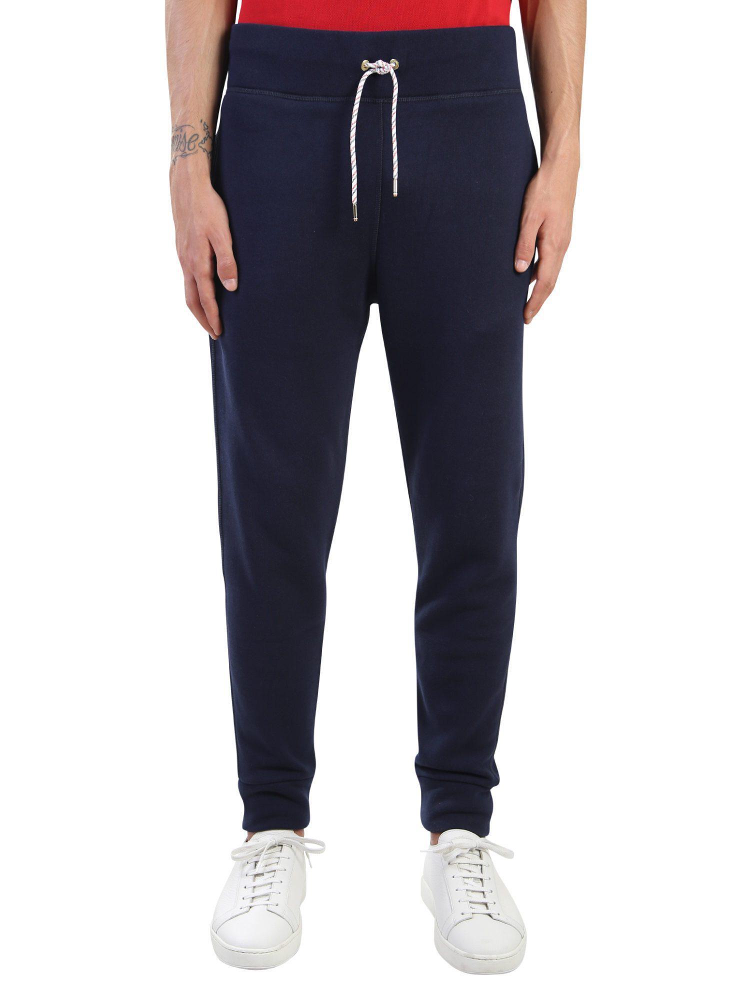 Moncler Gamme Bleu. Men's Blue Cotton Trousers