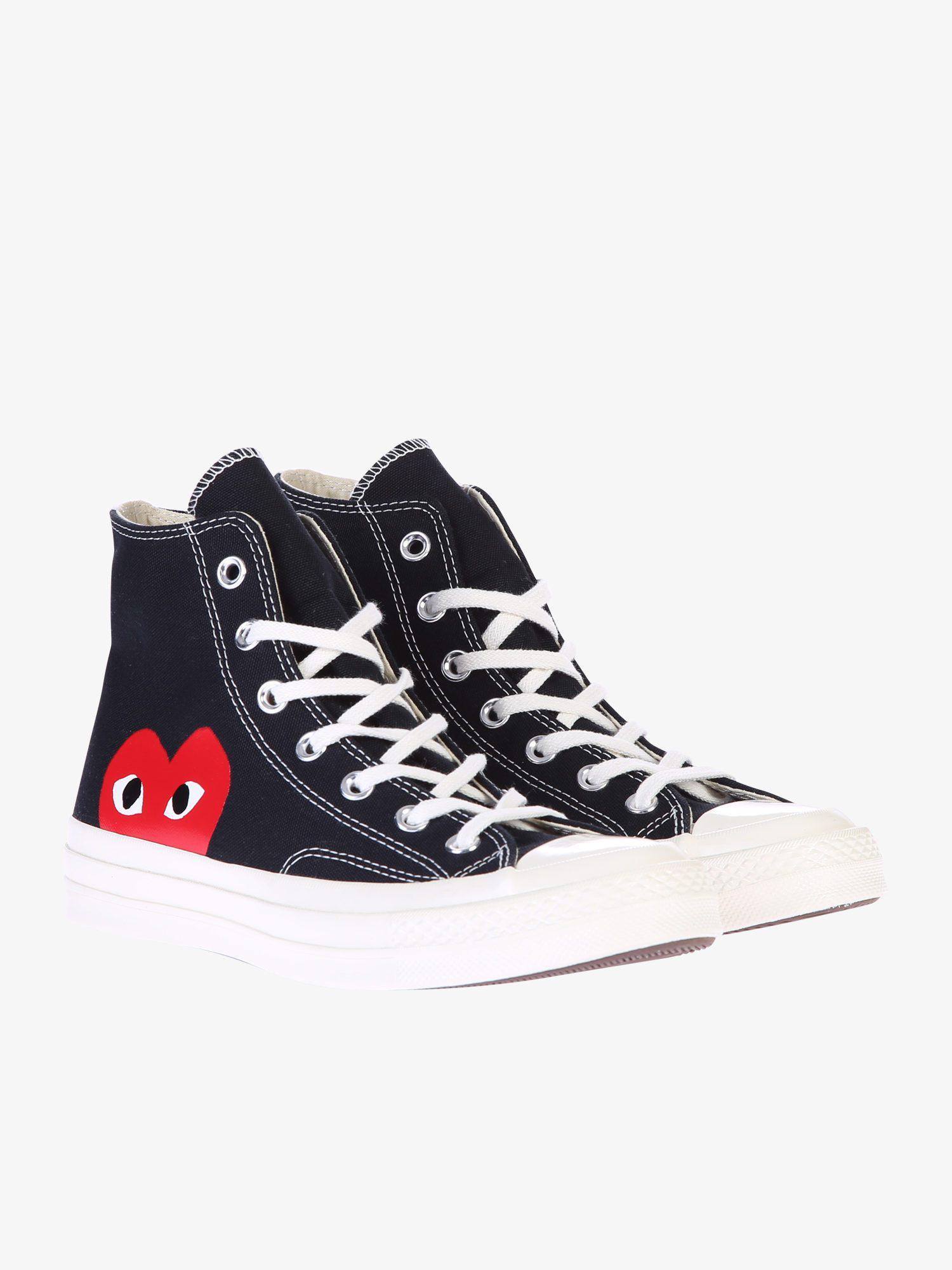 e62f48f1b65b Lyst - Play Comme des Garçons Cotton Canvas Sneakers in Blue