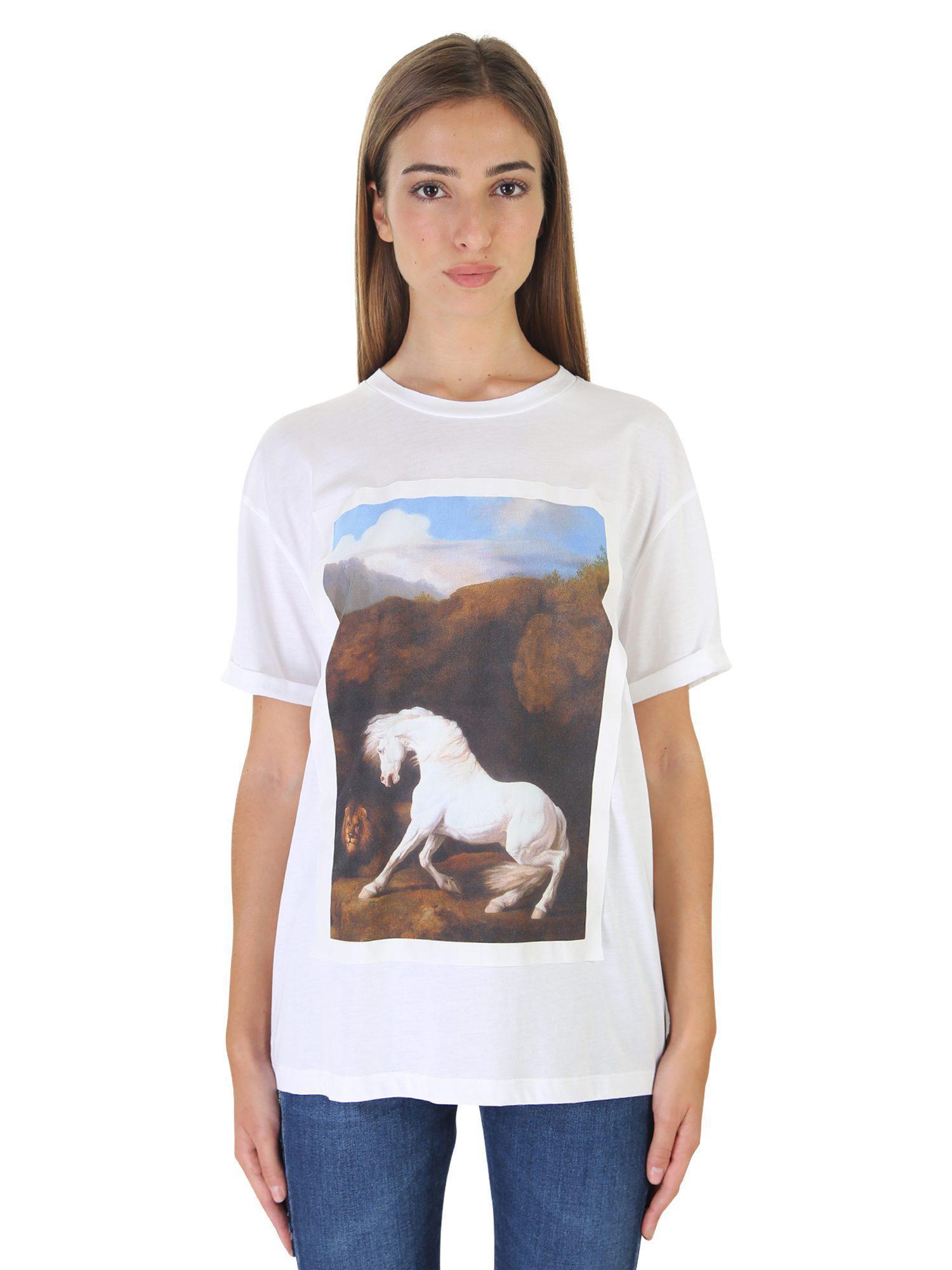 lyst stella mccartney printed cotton t shirt