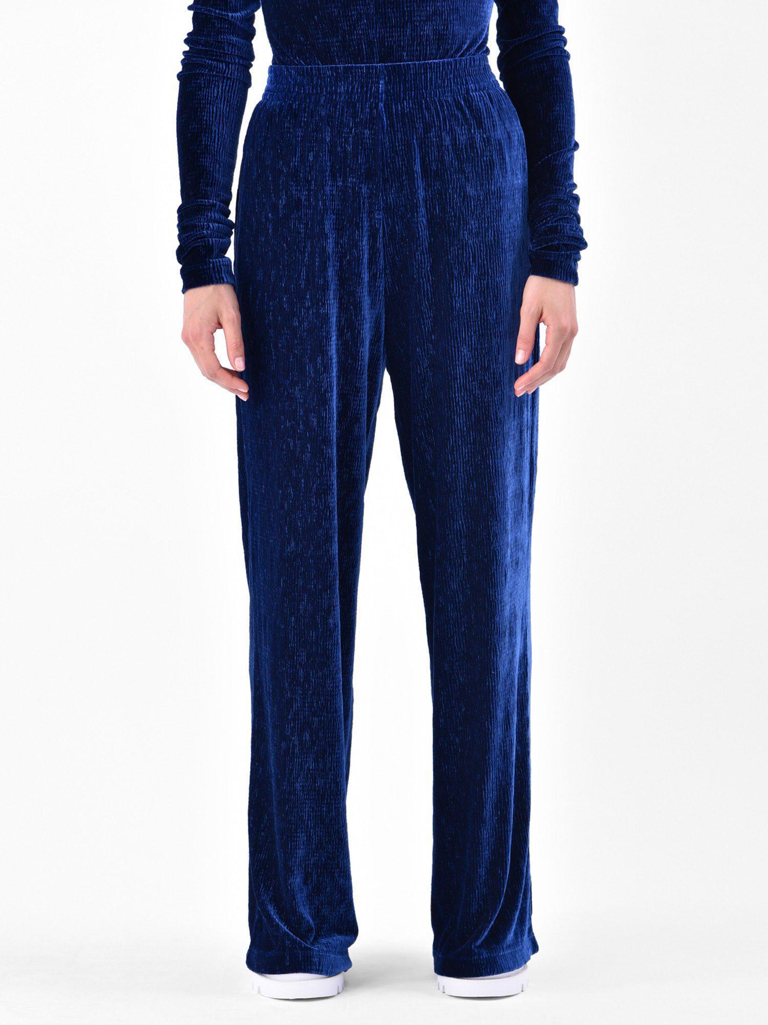 Buy Cheap Cheapest Cheapest Cheap Online textured velvet trousers - Blue Maison Martin Margiela 9omjhENbxA