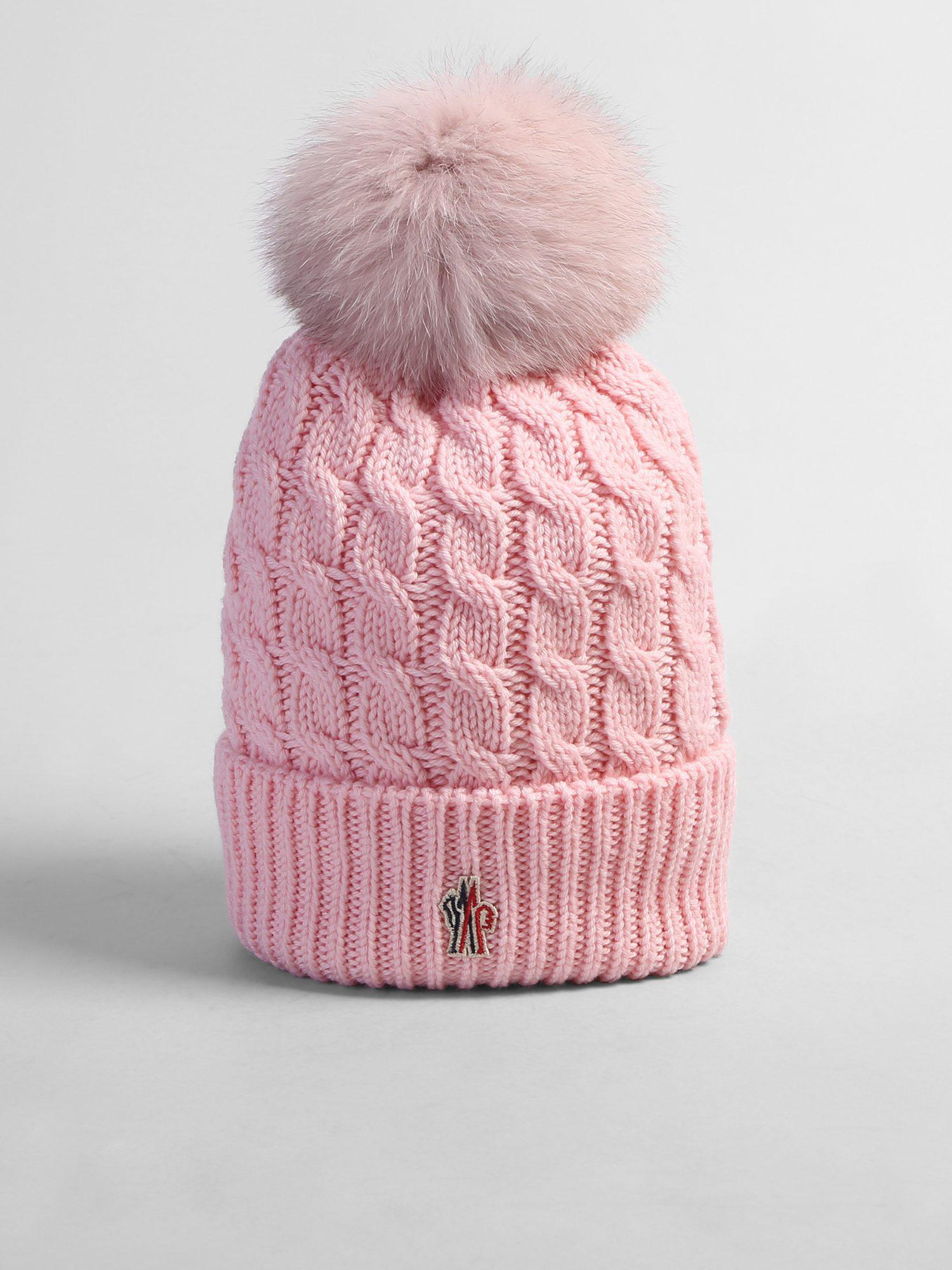 c82dae8db84 Moncler Grenoble Virgin Wool Beanie in Pink - Lyst