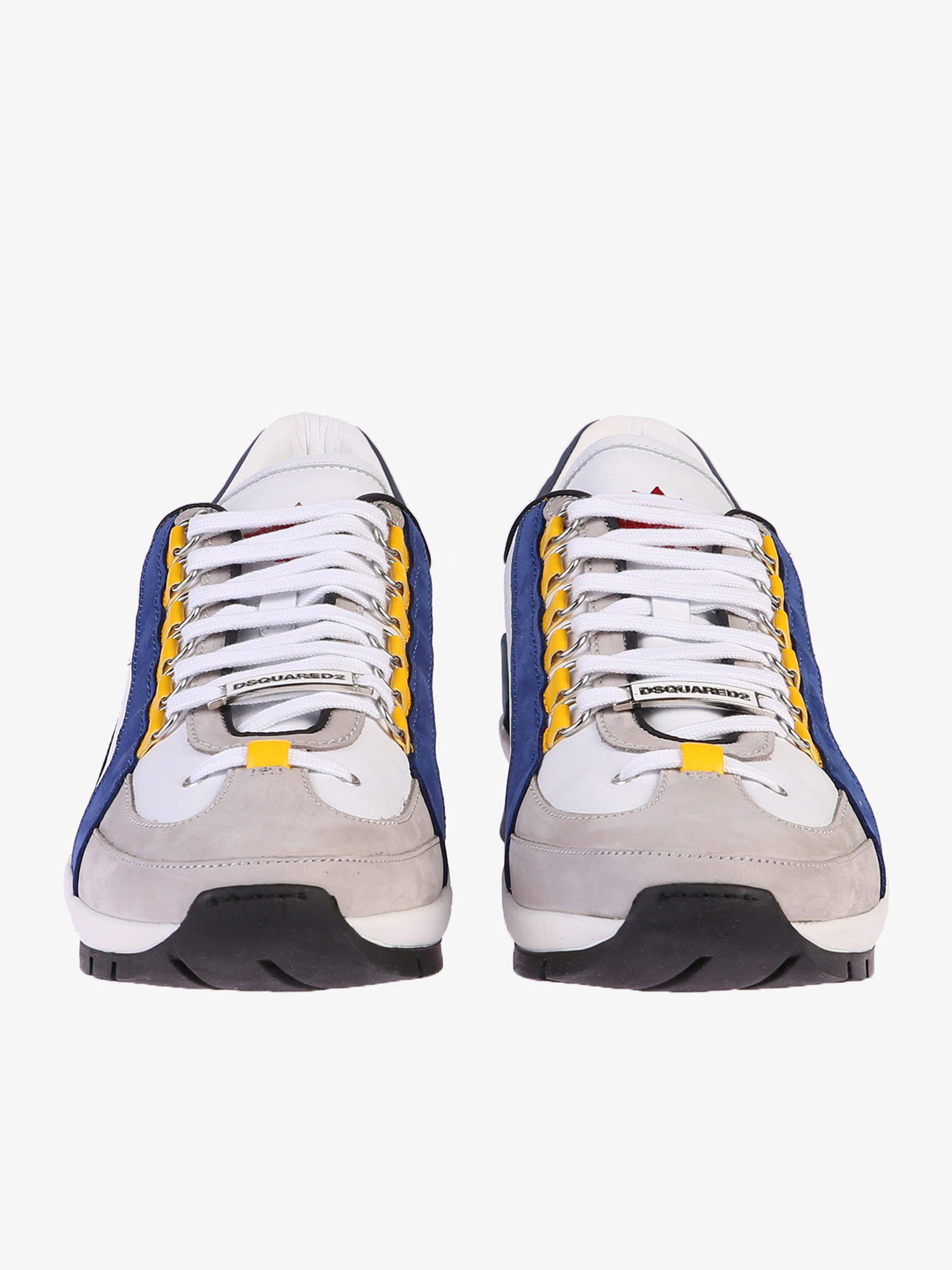 30a3168581200 DSquared² - Blue Leather Sneakers for Men - Lyst. View fullscreen