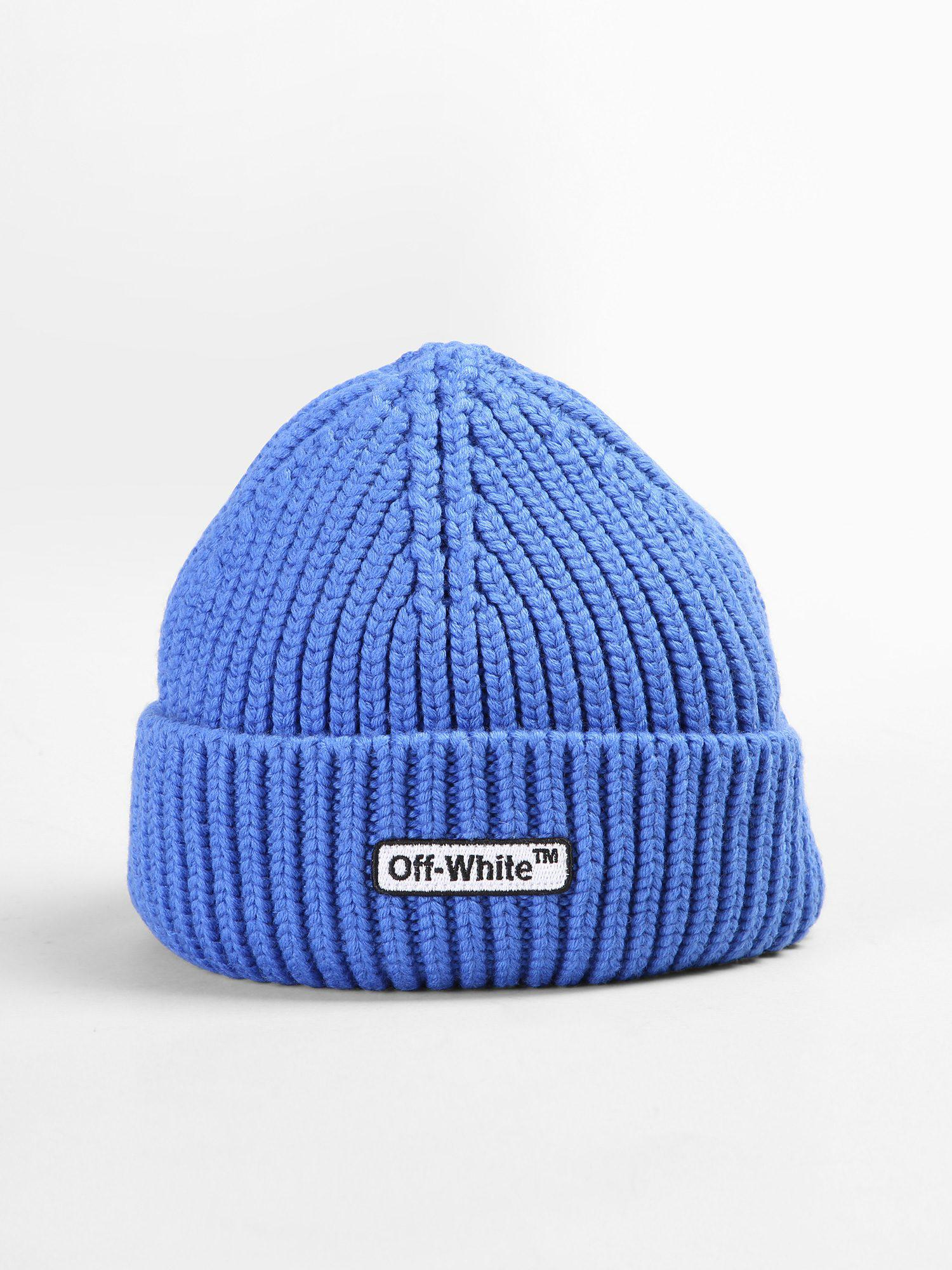 Lyst - Off-White c o Virgil Abloh Wool Beanie Hat in Blue for Men 8bc87f1ae89