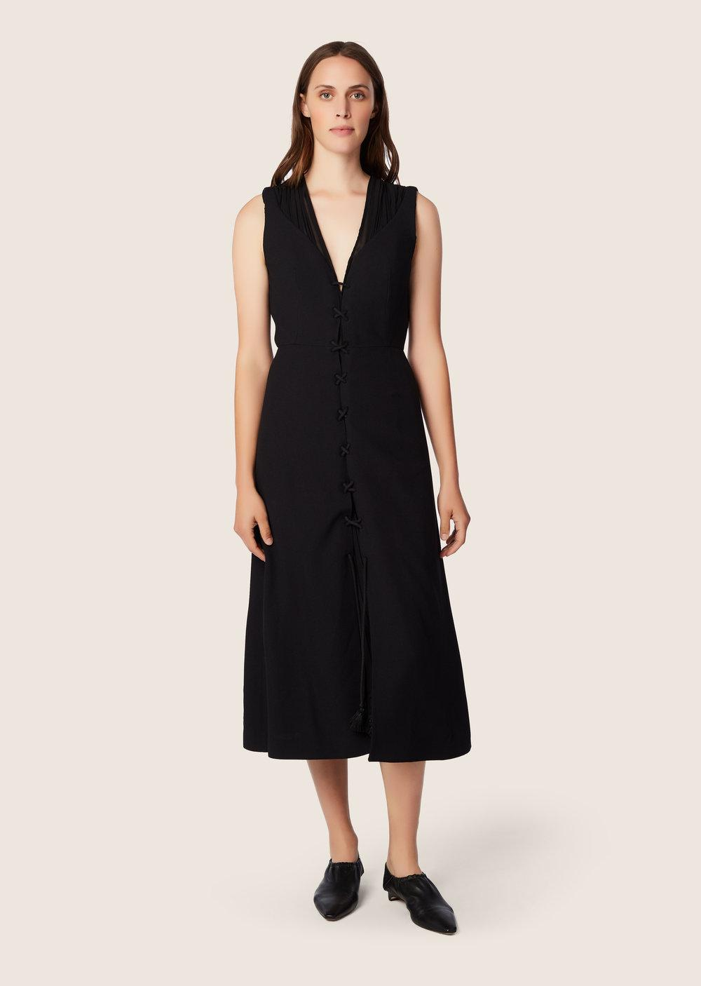Sale New Styles Sleeveless Layered Dress with Lacing Detail - Black Derek Lam Cheap Outlet Marketable For Sale Manchester Online New Arrival Sale Online 442MXH