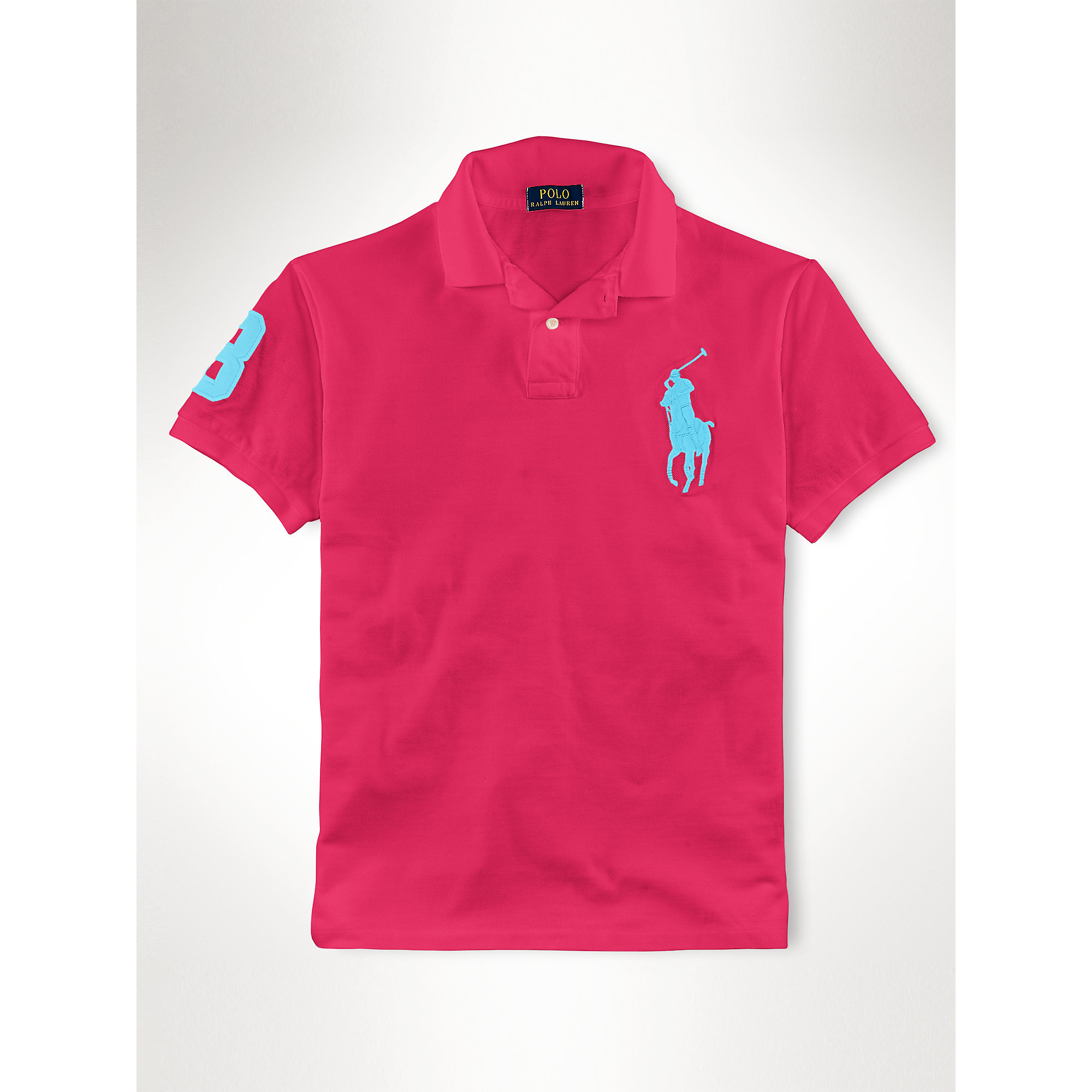 9a31ac7ef8fdc ... cheap lyst polo ralph lauren slim fit big pony polo shirt in pink for  men 3ff80