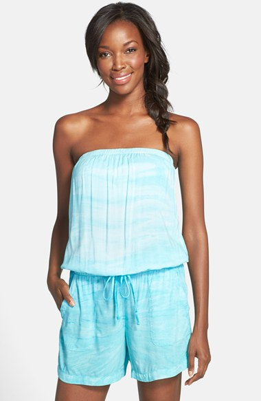 Hard tail Strapless Shelf Bra Romper in Blue | Lyst