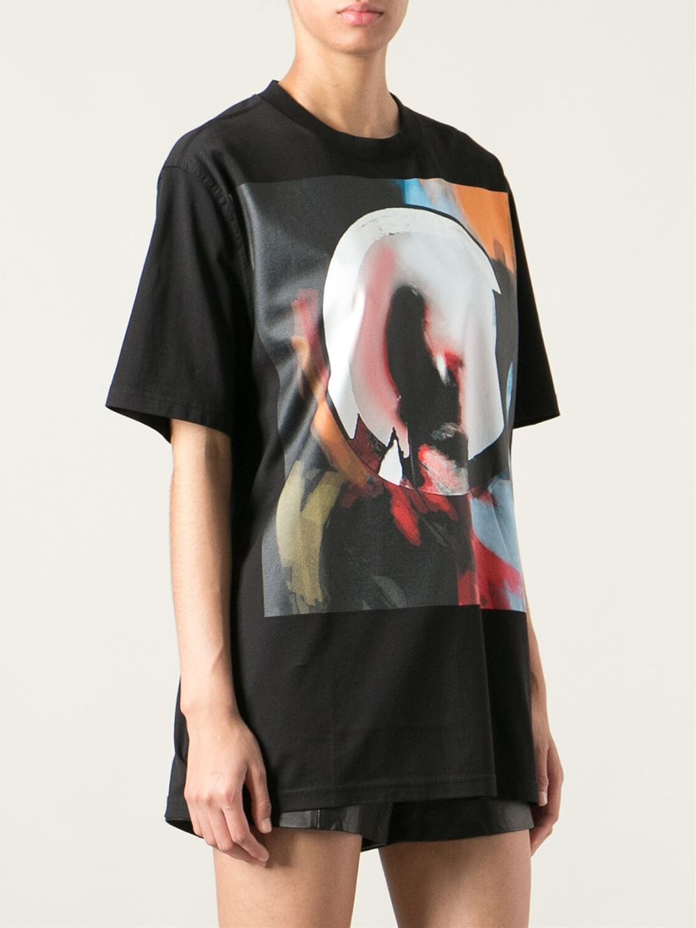 givenchy abstract print tshirt in black lyst. Black Bedroom Furniture Sets. Home Design Ideas