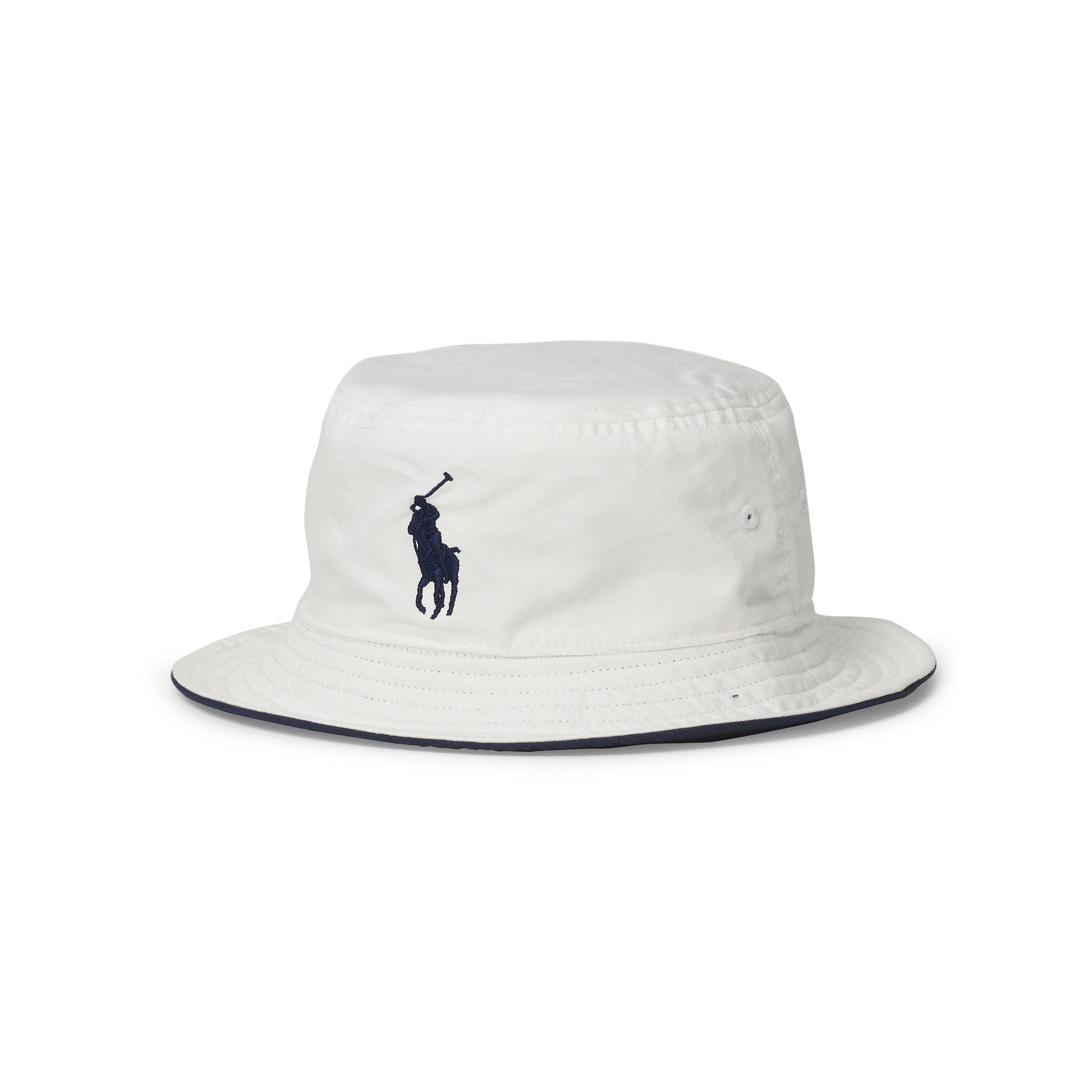 93f2de86e24 Lyst - Polo Ralph Lauren Us Open Reversible Bucket Hat in White for Men