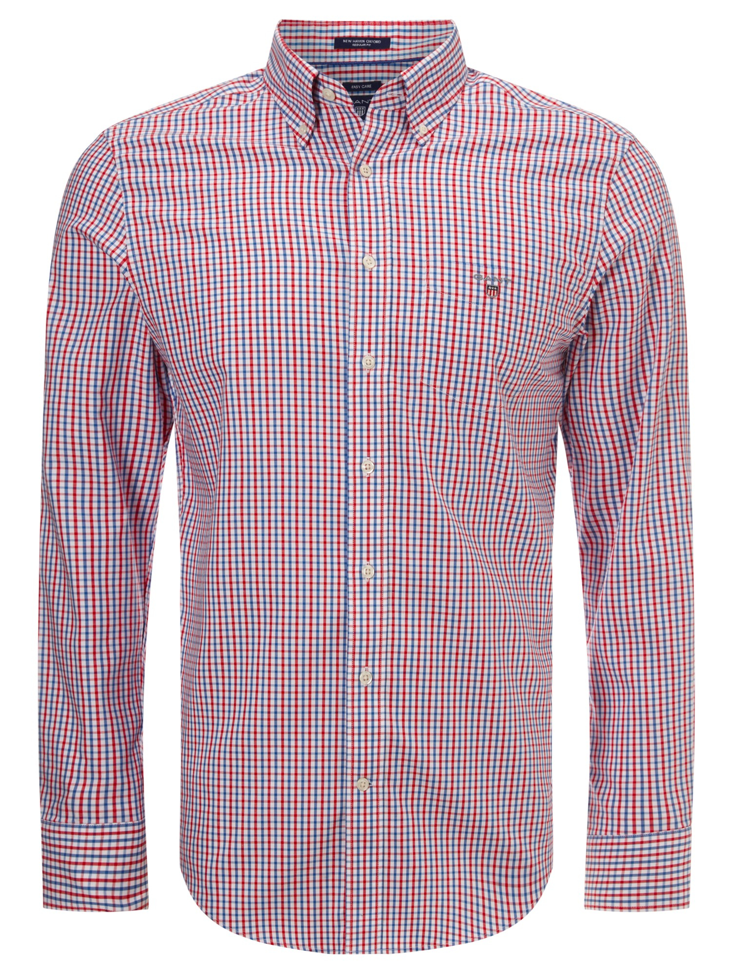Gant Button Down Gingham Shirt In Red For Men Lyst