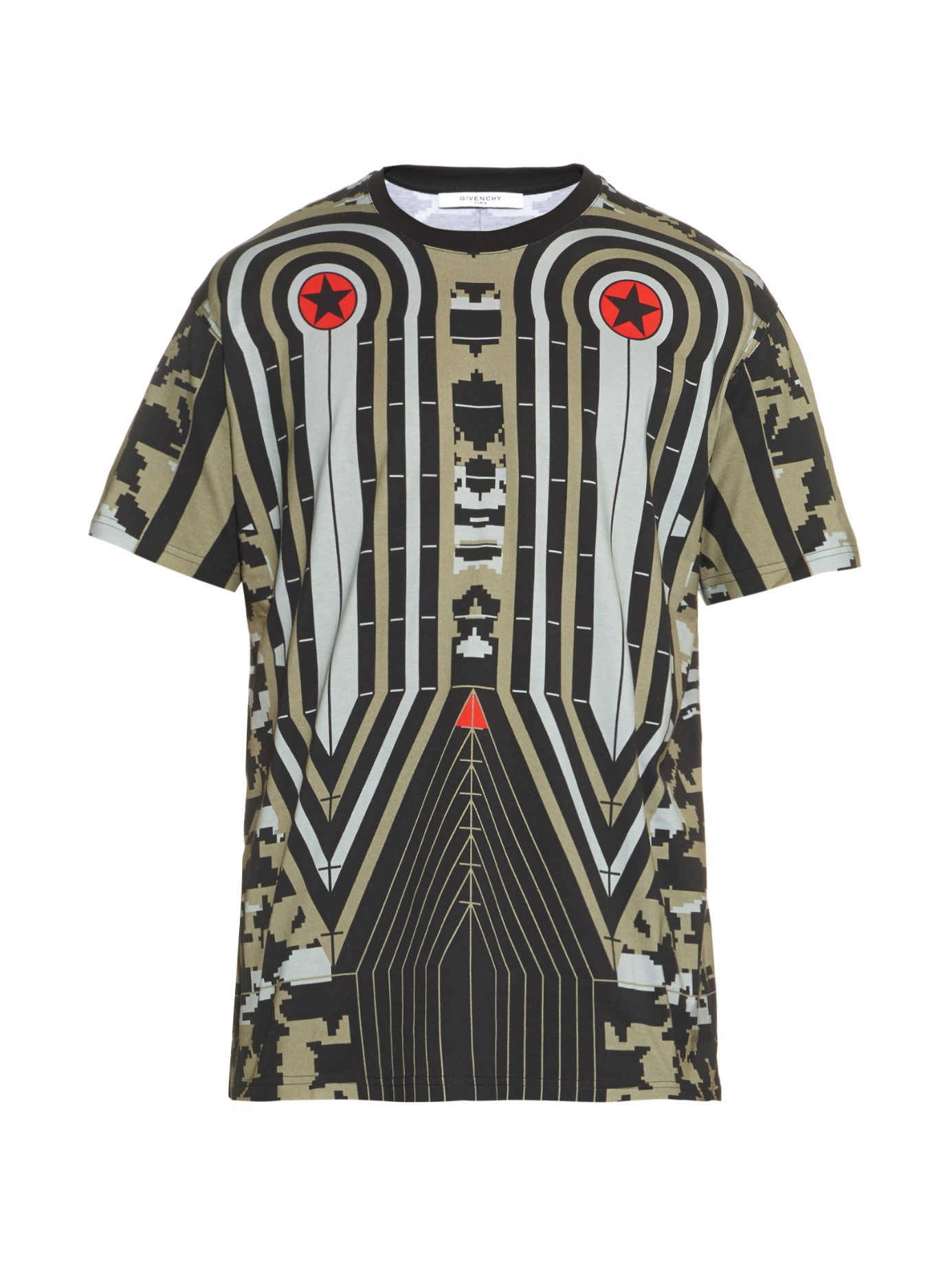 Lyst Givenchy Robot Print Cotton T Shirt In Black For Men