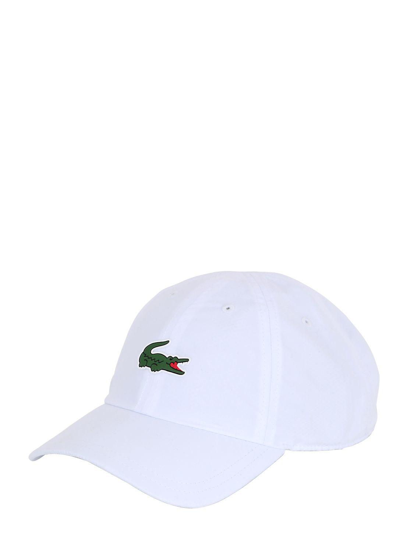 Lyst - Lacoste Microfiber Tennis Hat in White for Men 14ba924c25e
