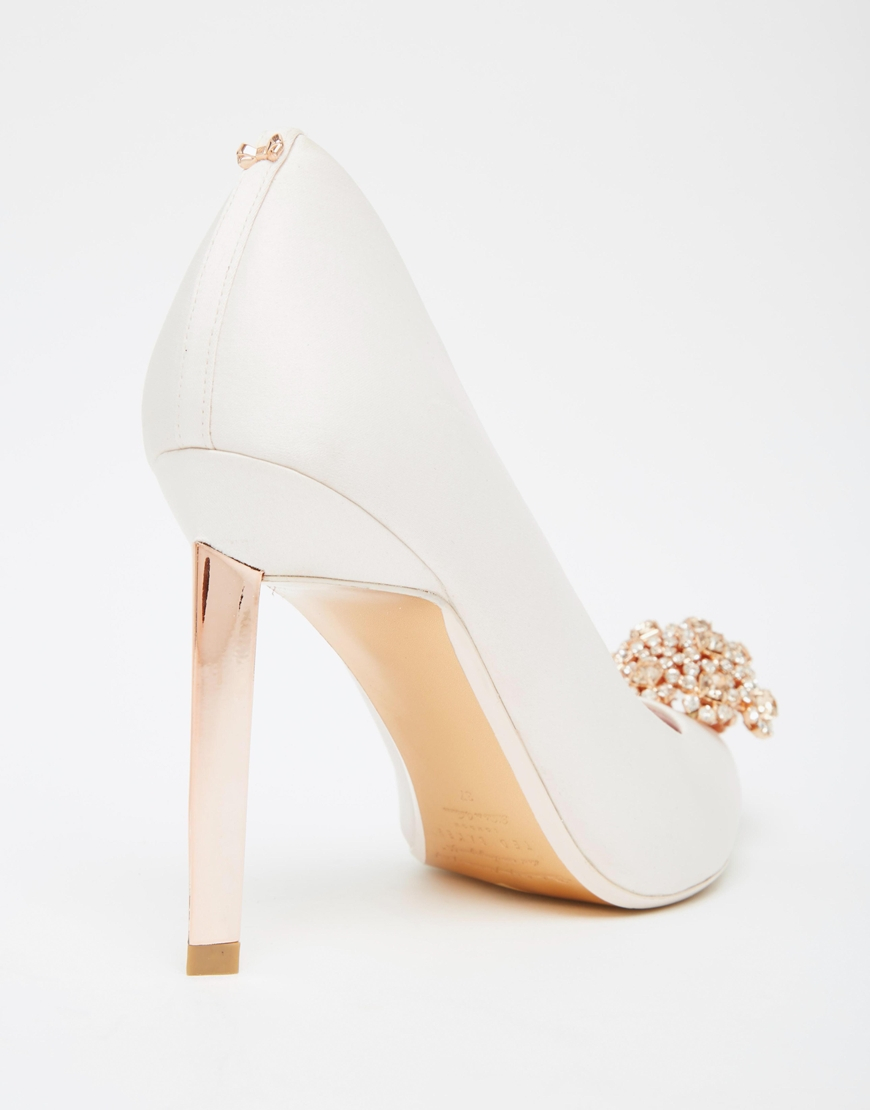699dedc5401da9 Ted Baker Peetch Tie The Knot Bridal Embellished Leather Court Shoes ...