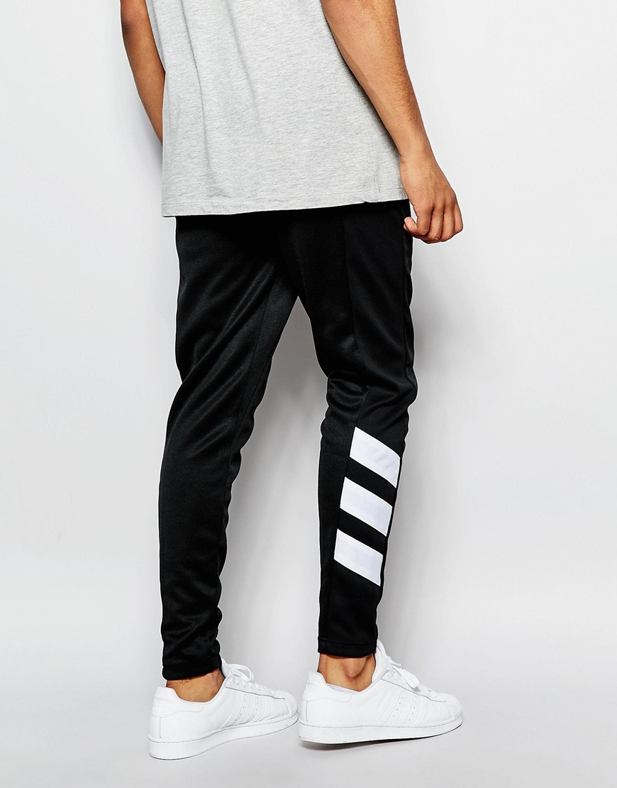 adidas originals skinny joggers aj7673 in black for men lyst. Black Bedroom Furniture Sets. Home Design Ideas