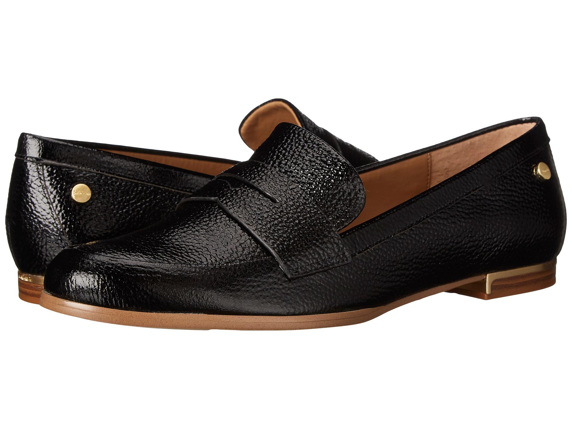 Womens Shoes Calvin Klein Celia Black Tumbled Patent