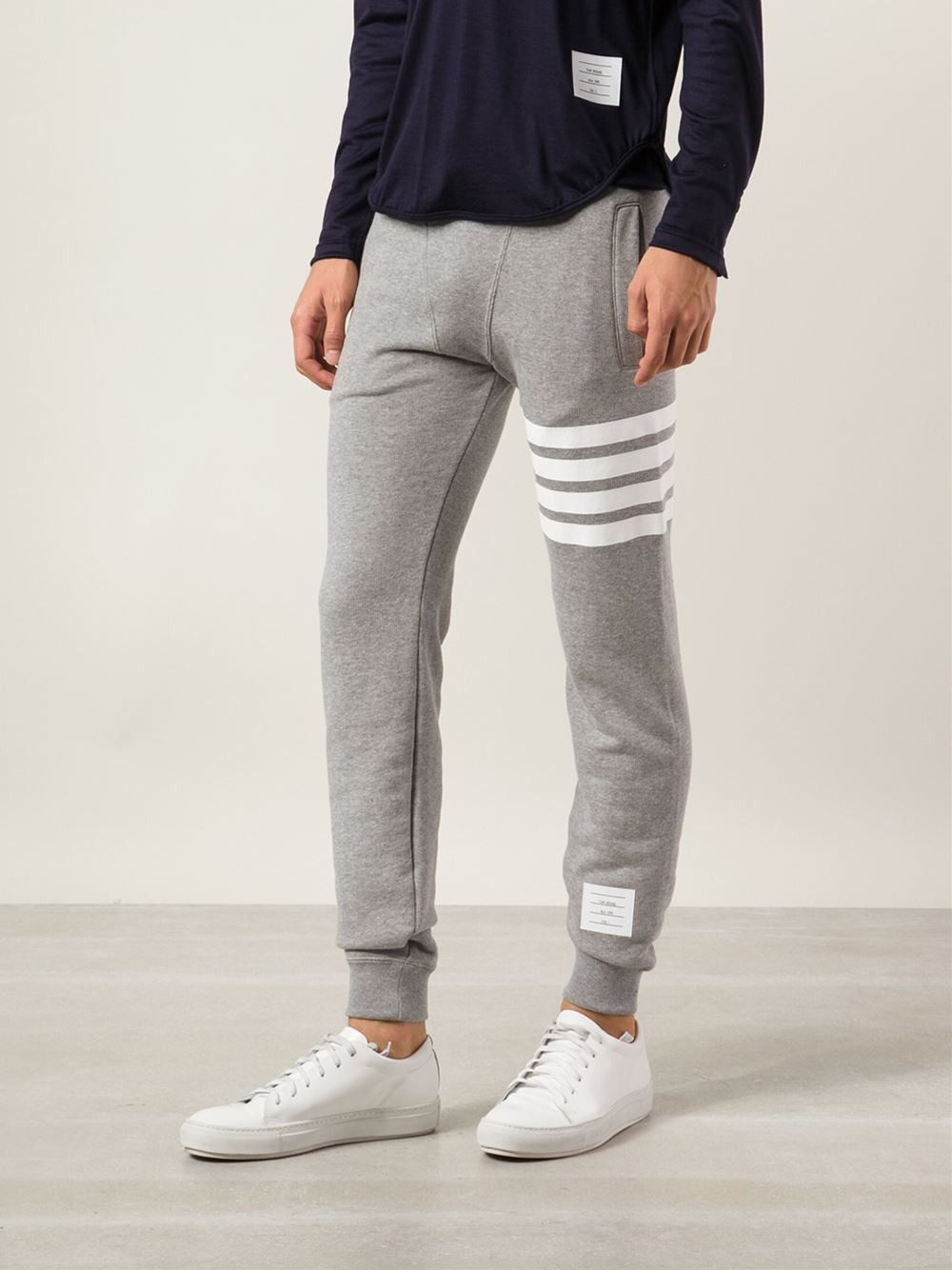 Thom browne Athletic Sweatpants in Gray for Men