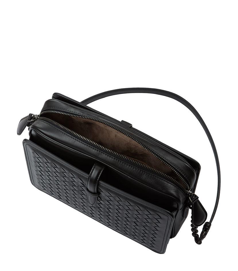 cb337c4cf1fa Bottega Veneta Intrecciato Runway Shoulder Bag in Black - Lyst
