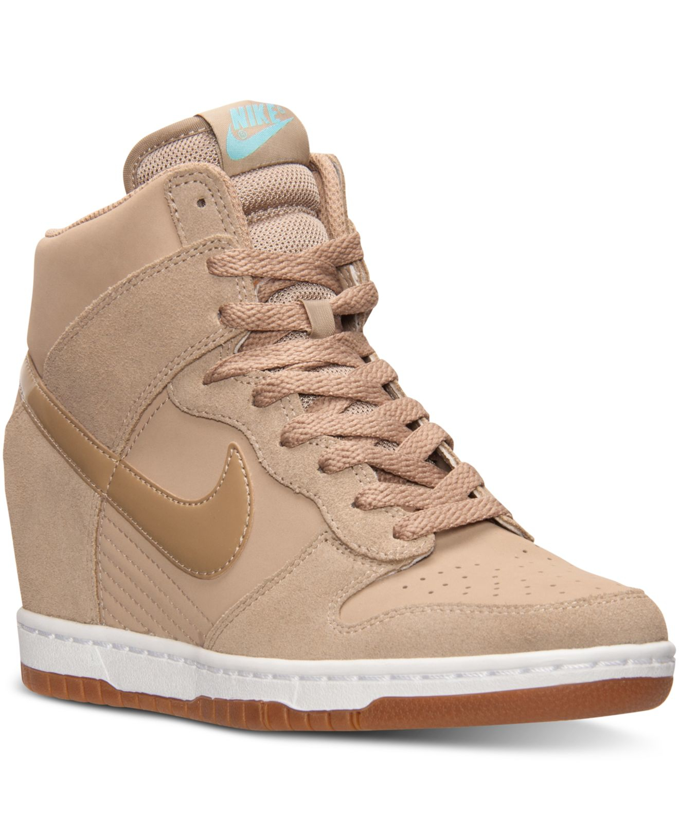lyst nike women 39 s dunk sky hi essential casual sneakers from finish line in natural. Black Bedroom Furniture Sets. Home Design Ideas