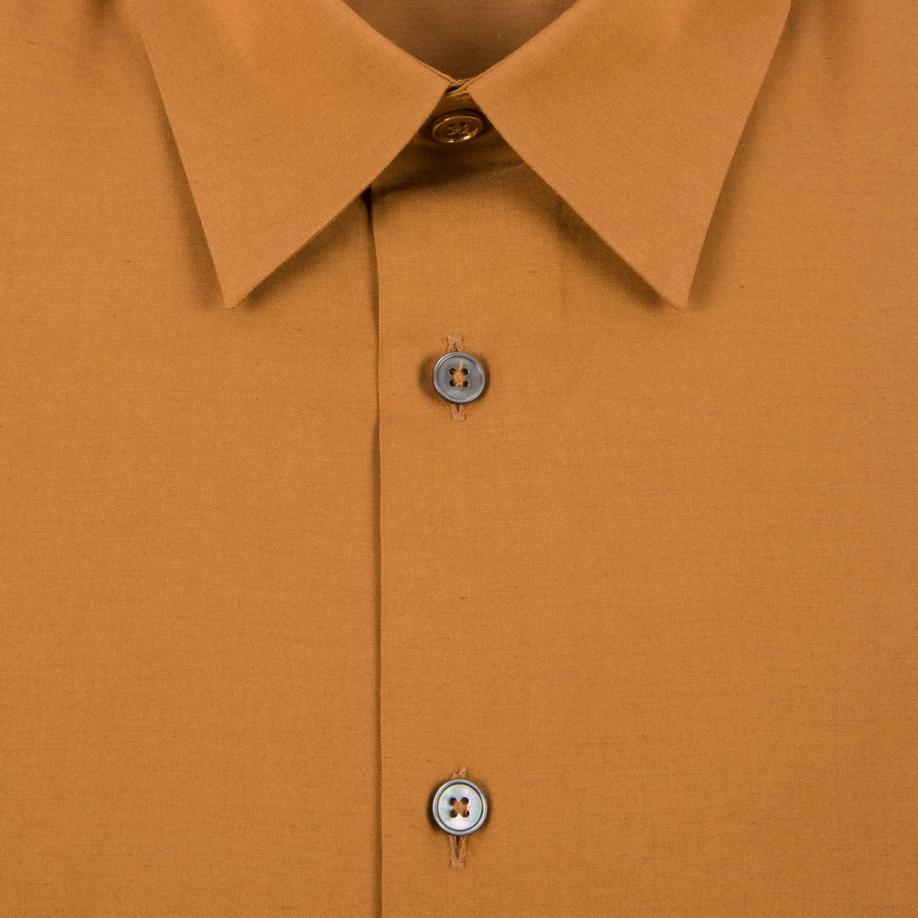 1010a67e434 Paul Smith Men s Burnt Orange Cotton-cashmere Shirt in Orange for ...