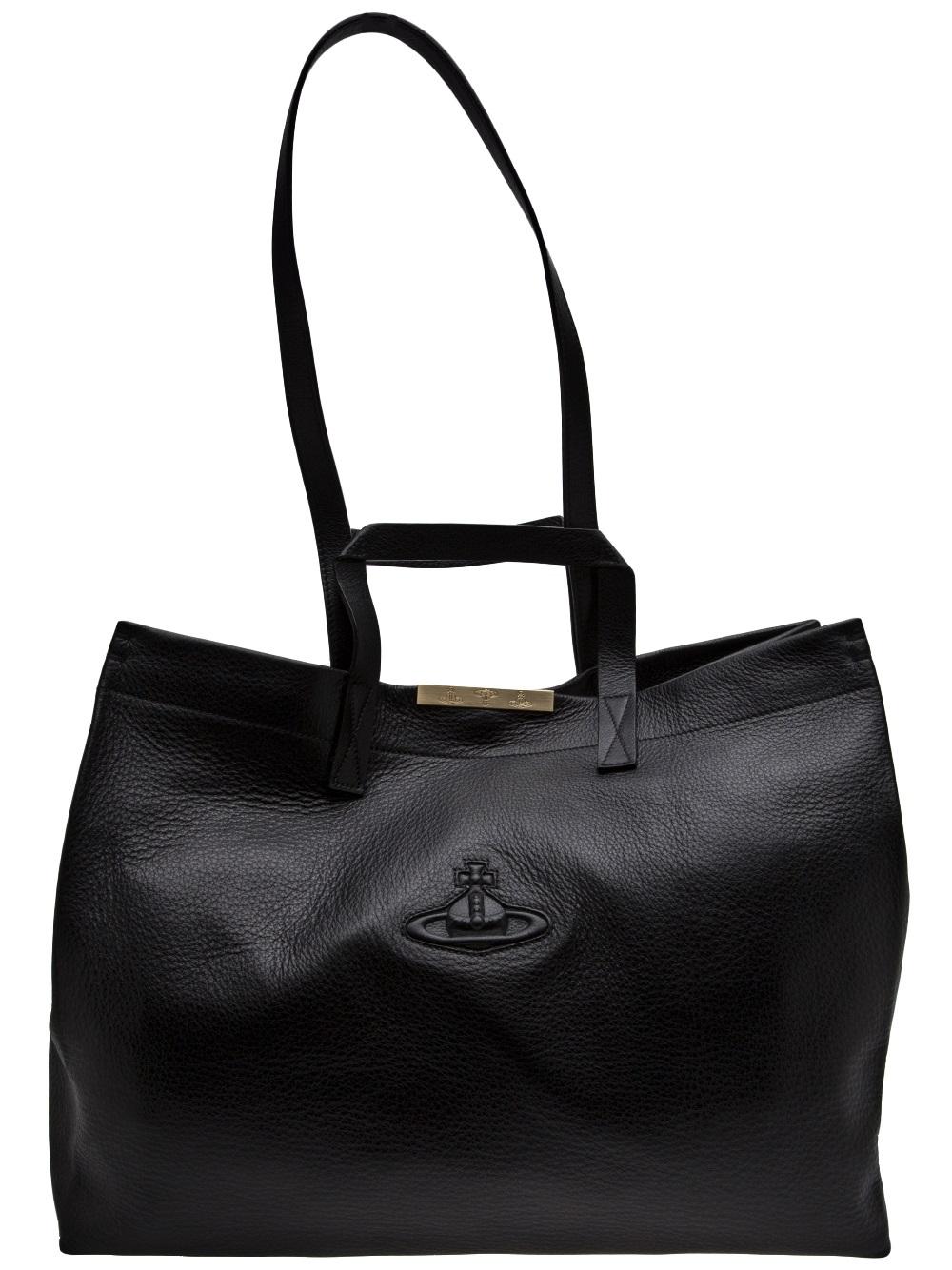b95de49aa3 Lyst - Vivienne Westwood Large Shopper Bag in Black