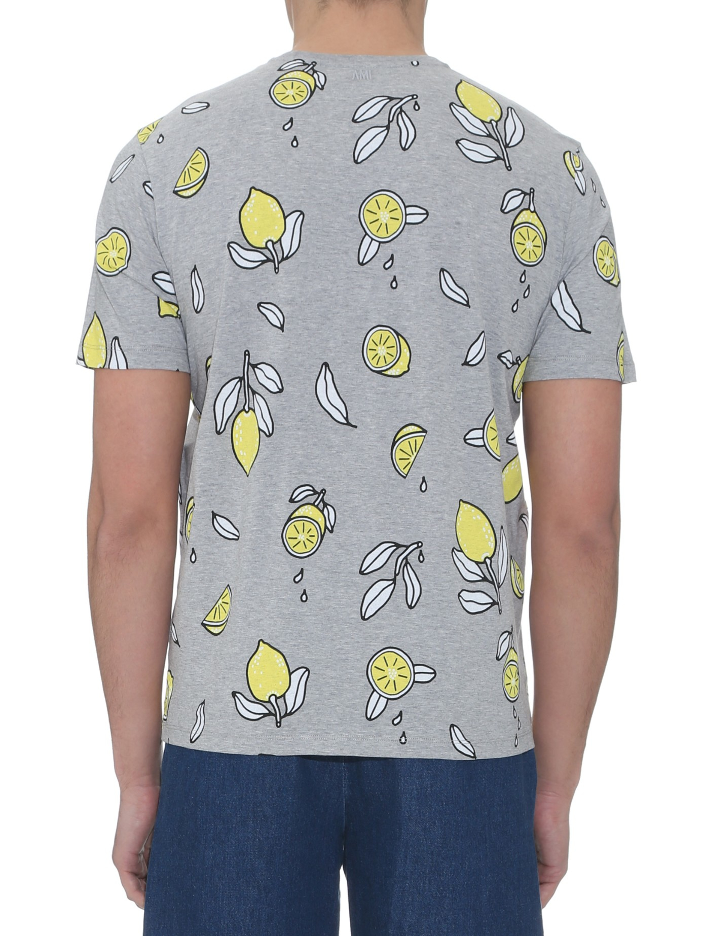 Ami Embroidered Cotton-jersey T-shirt - Yellow K4fln