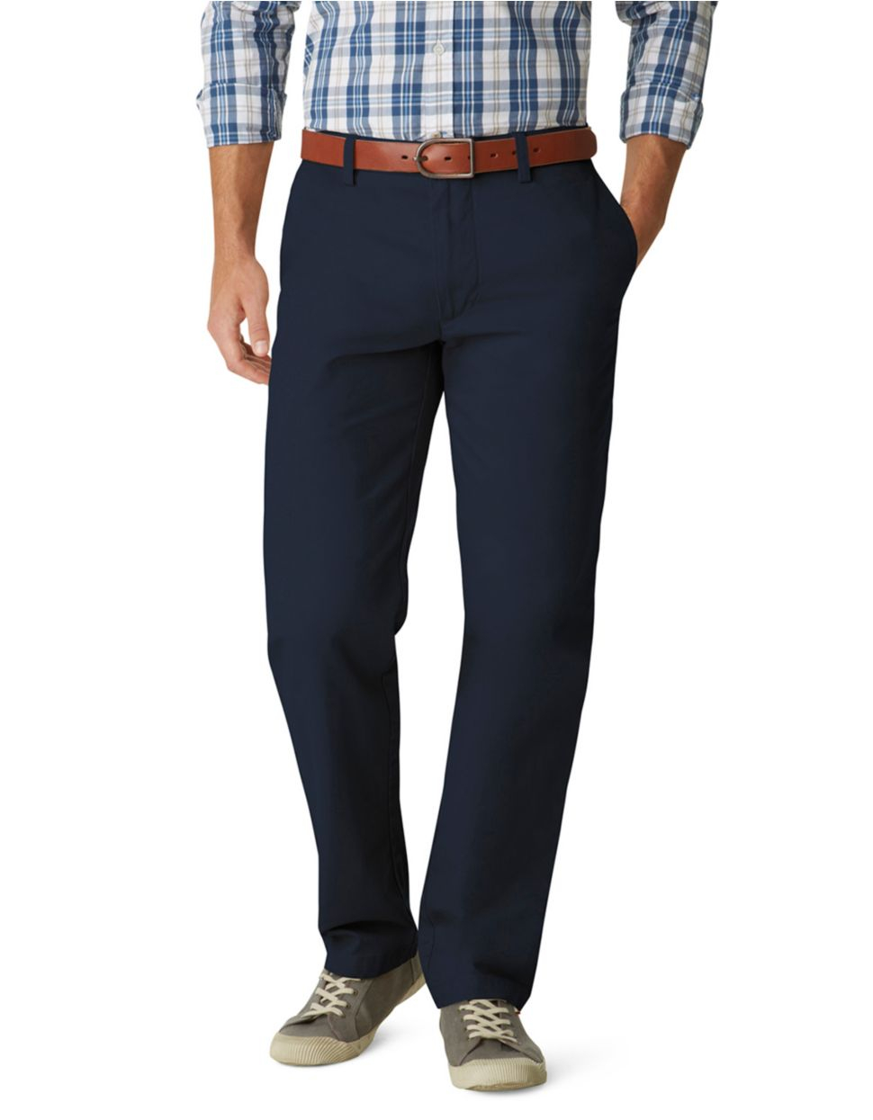 Dockers Classic Fit Field Khaki Pants in Blue for Men | Lyst