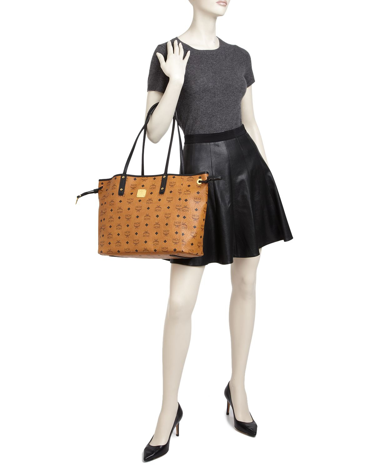 2b96838a5345 Lyst - MCM Tote - Shopper Project Visetos Reversible in Pink