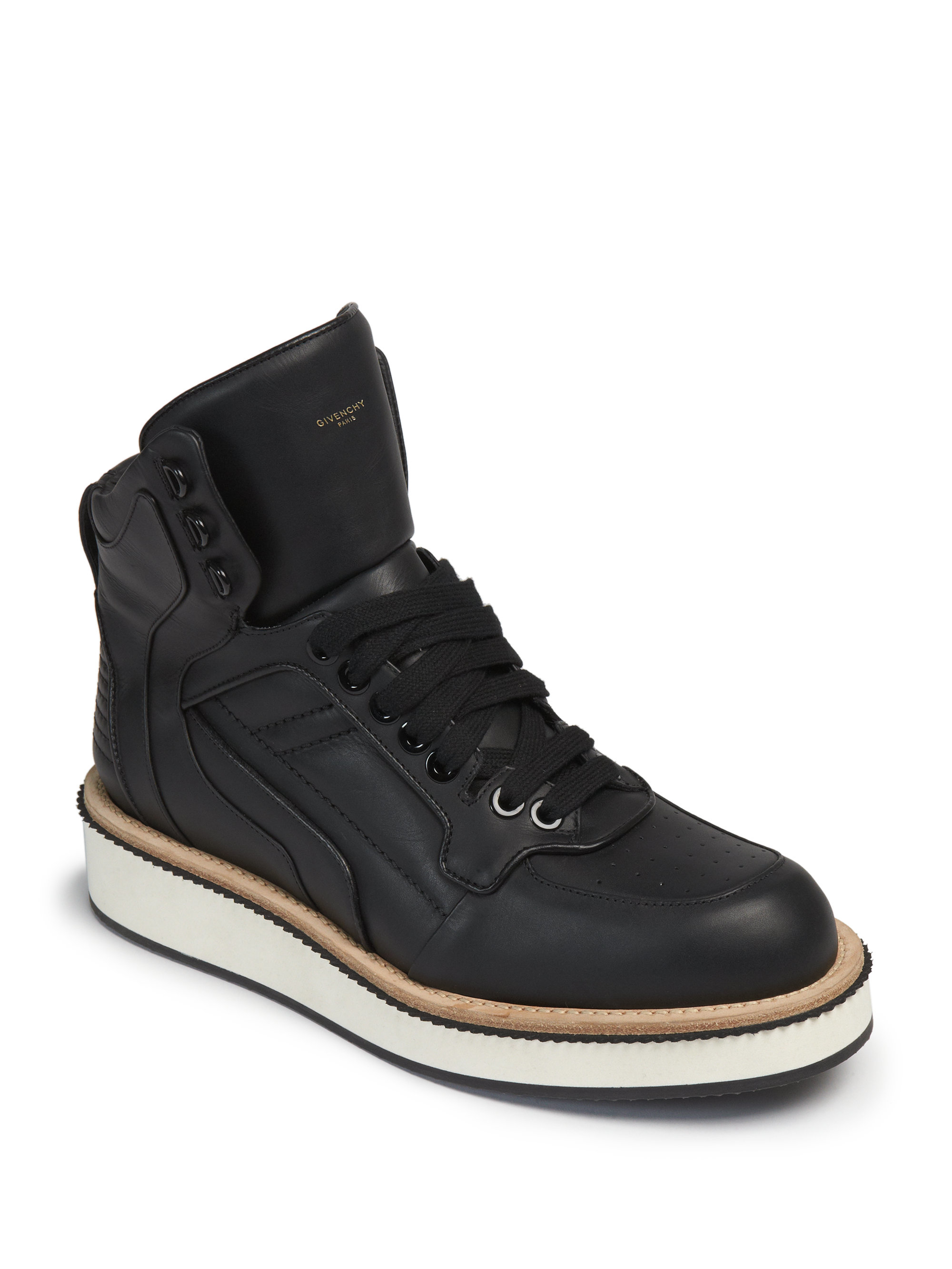Givenchy Tyson Rottweiler Leather High Top Sneakers In